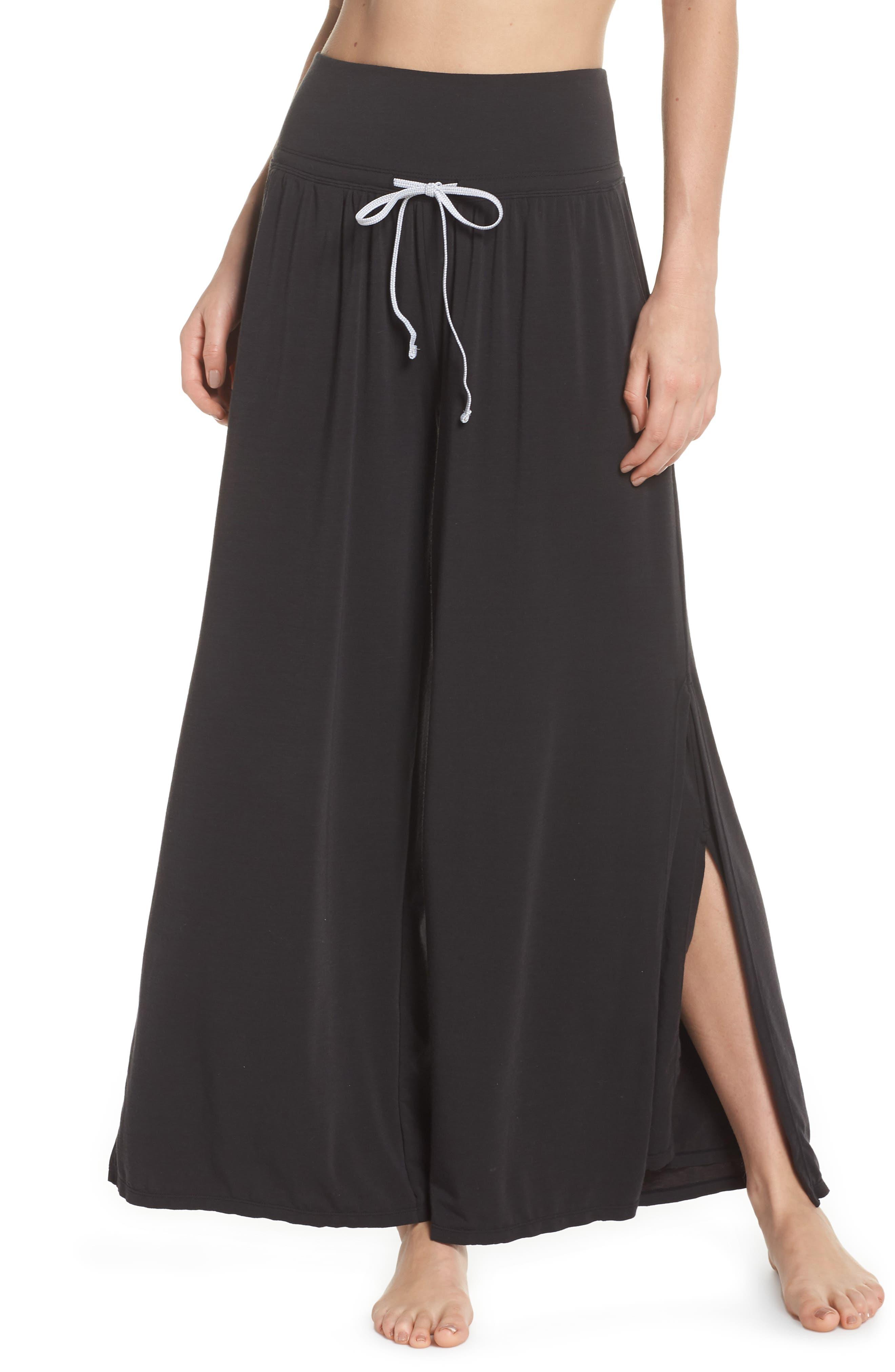 Easy Breezy Wide Leg Cover-Up Pants,                             Main thumbnail 1, color,                             BLACK