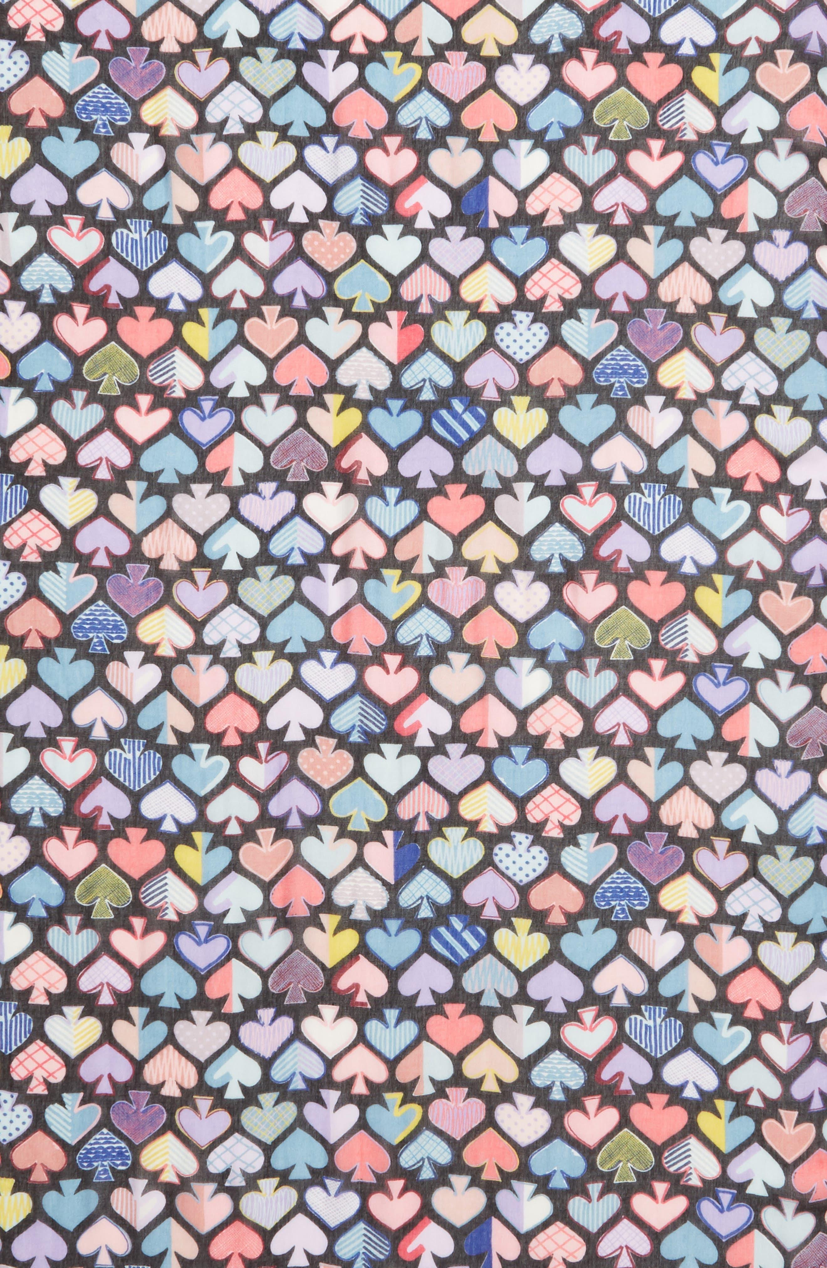 graffiti spades scarf,                             Alternate thumbnail 4, color,                             BLACK