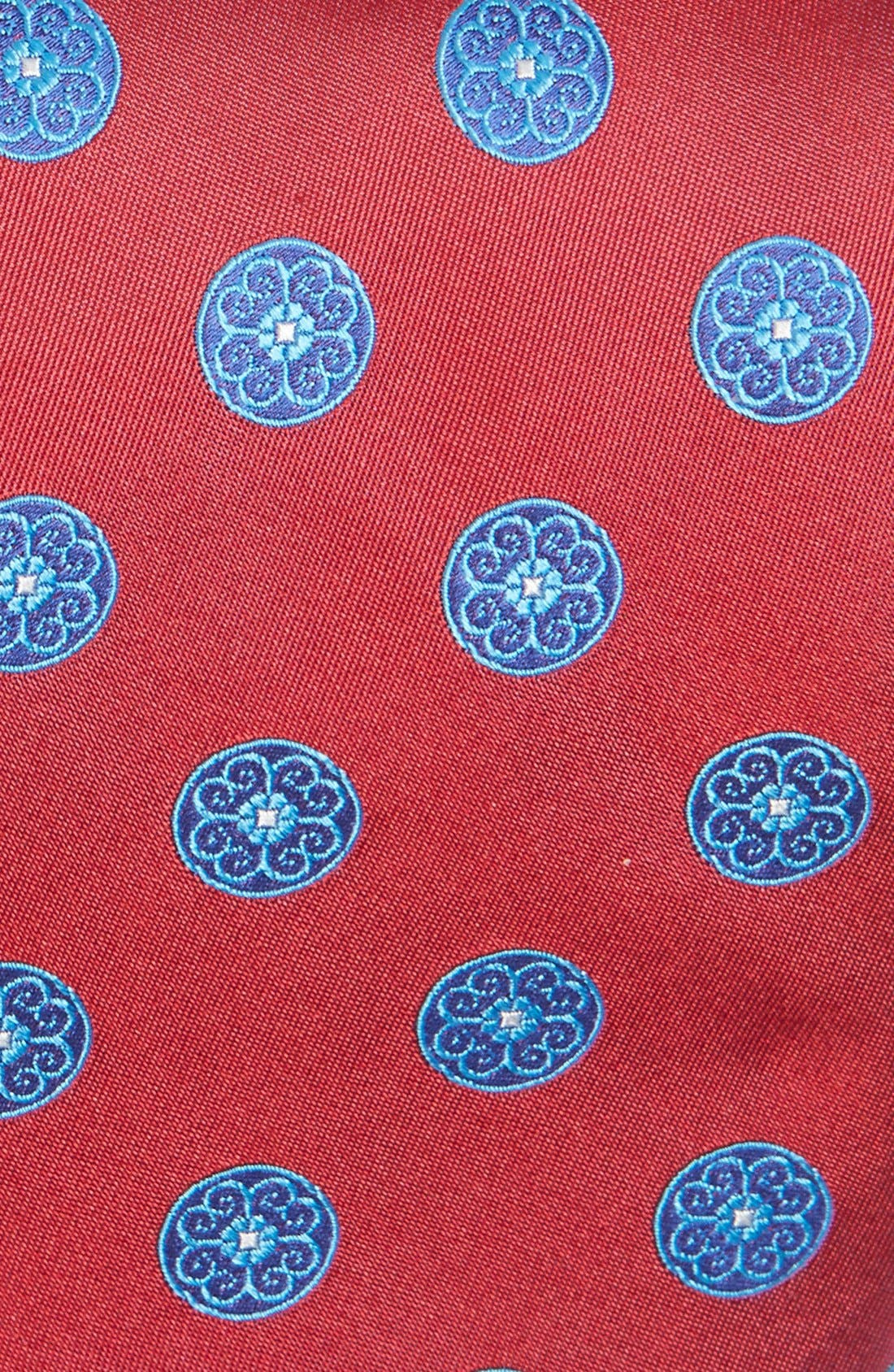 Medallion Woven Silk Tie,                             Alternate thumbnail 12, color,