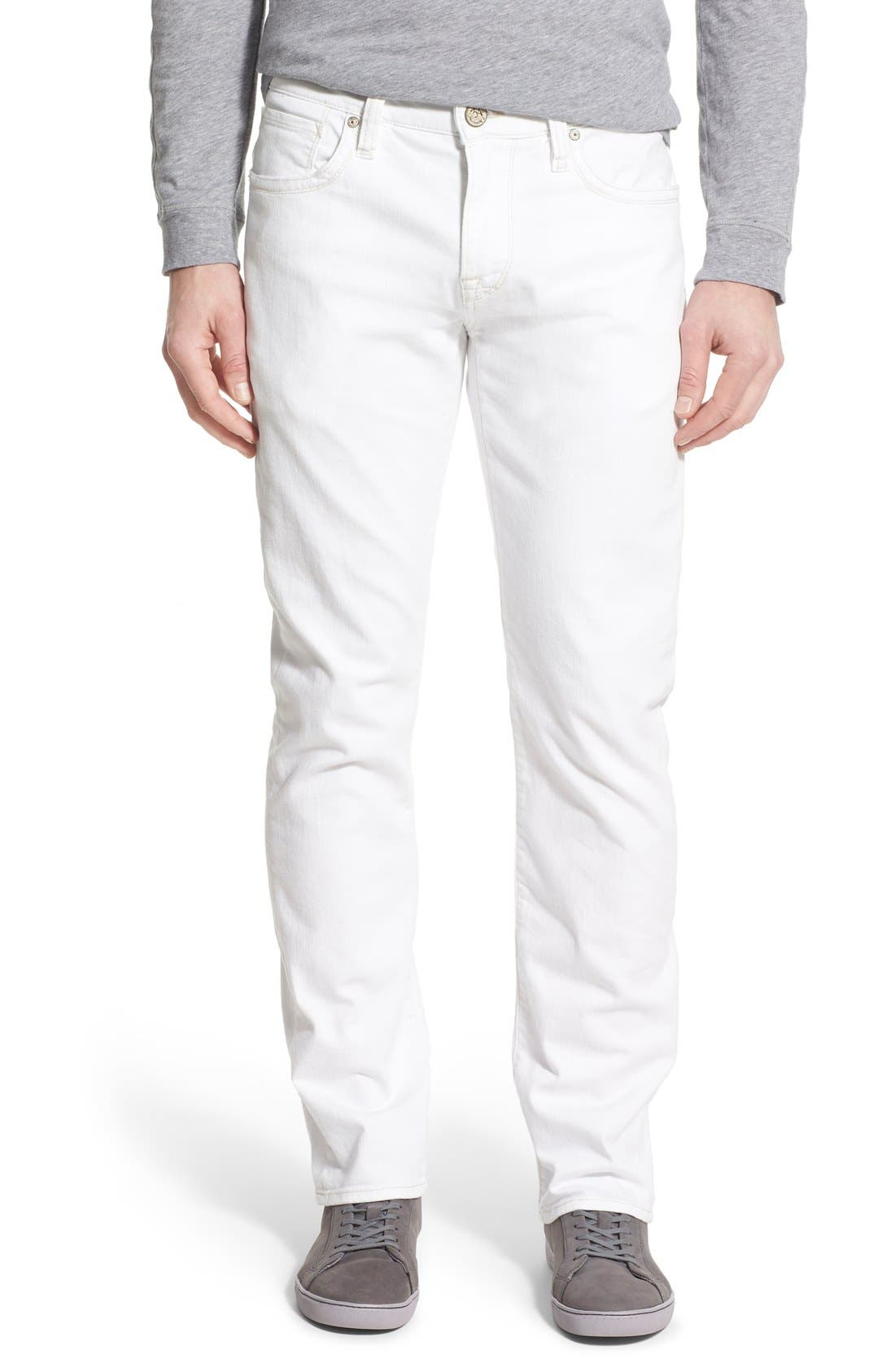 'Courage' Straight Leg Jeans,                             Main thumbnail 1, color,                             WHITE DENIM