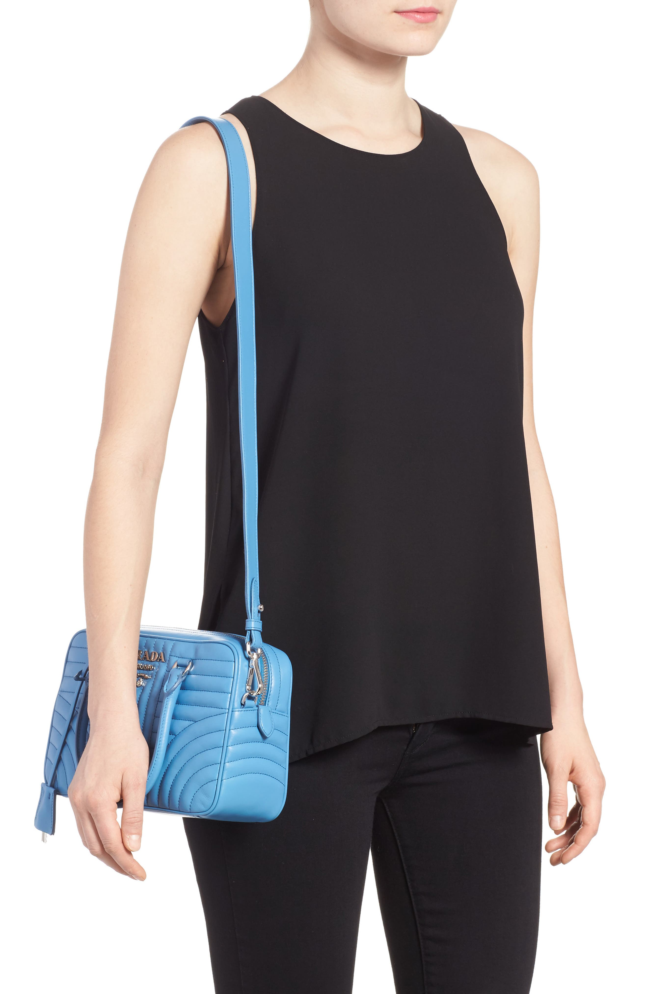 Quilted Leather Bowler Bag,                             Alternate thumbnail 2, color,                             451