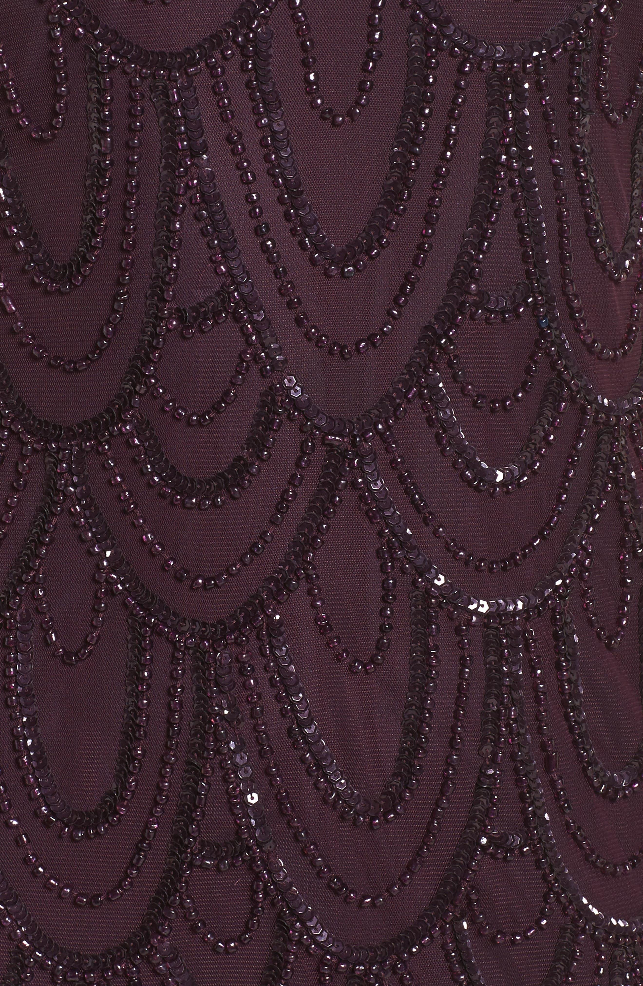 Embellished Mesh Sheath Dress,                             Alternate thumbnail 82, color,