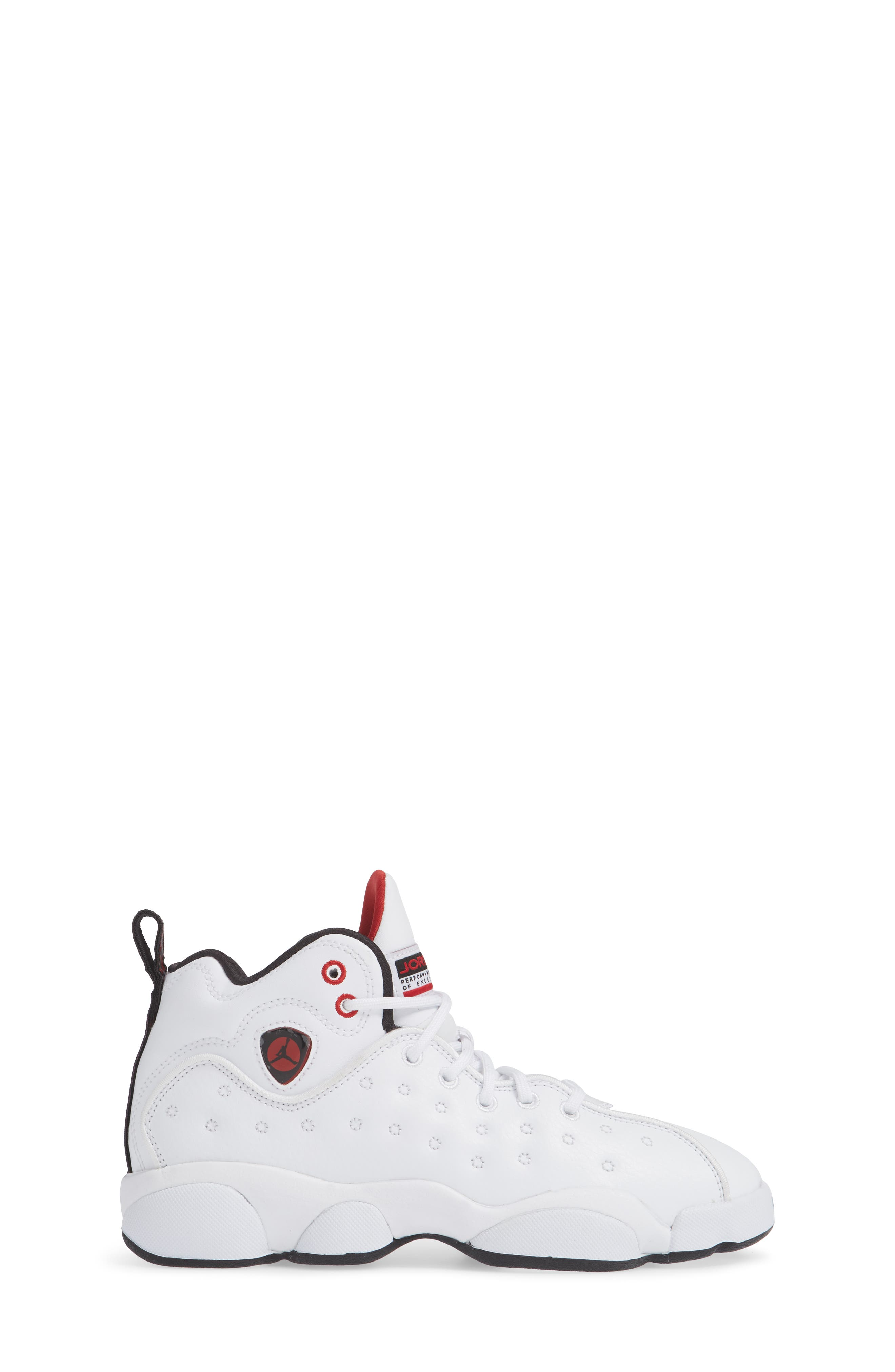 Jordan Jumpman Team II Sneaker,                             Alternate thumbnail 3, color,                             WHITE/ BLACK/ GYM RED