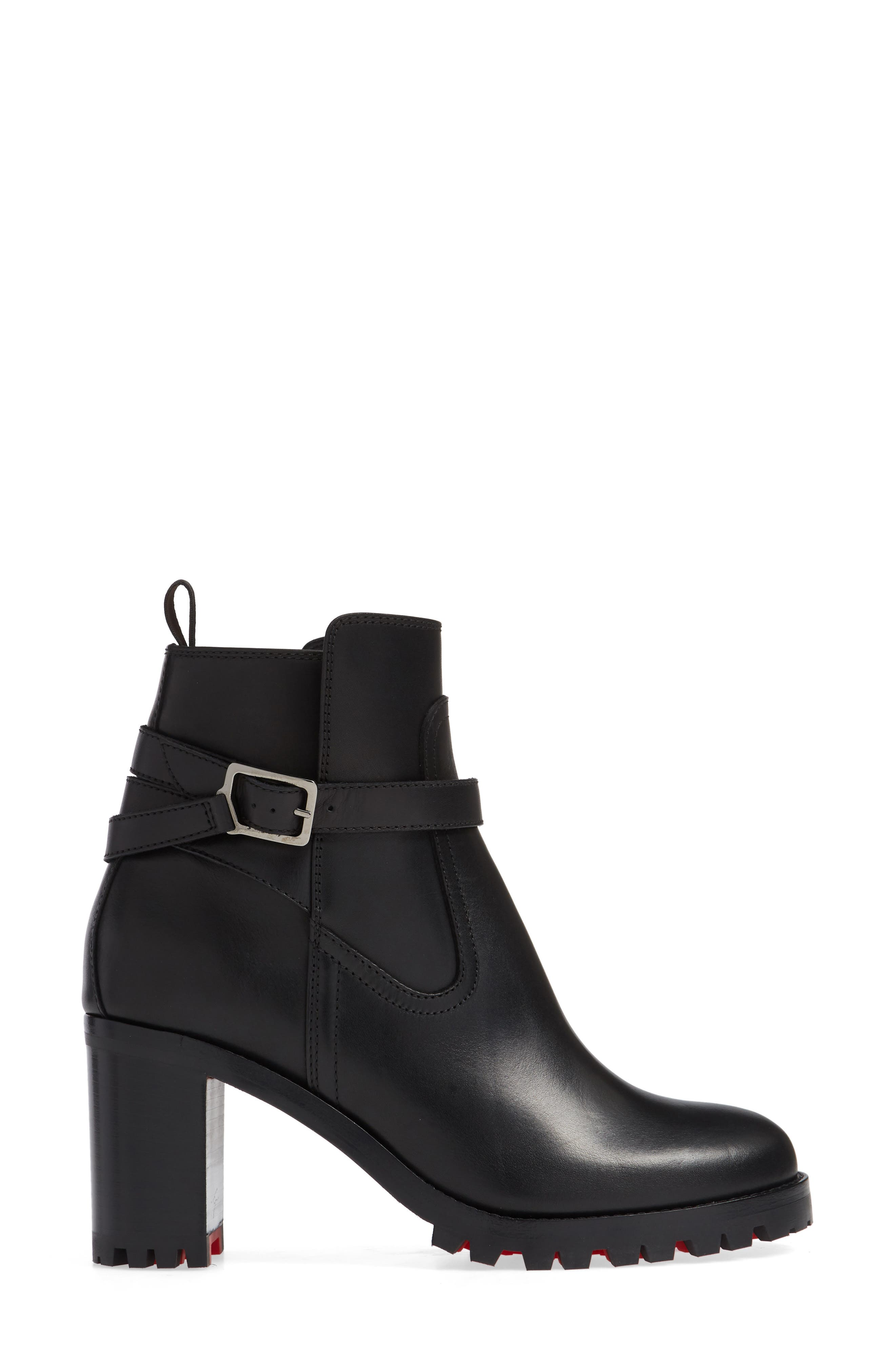 Trapeurdekoi Strappy Bootie,                             Alternate thumbnail 3, color,                             BLACK
