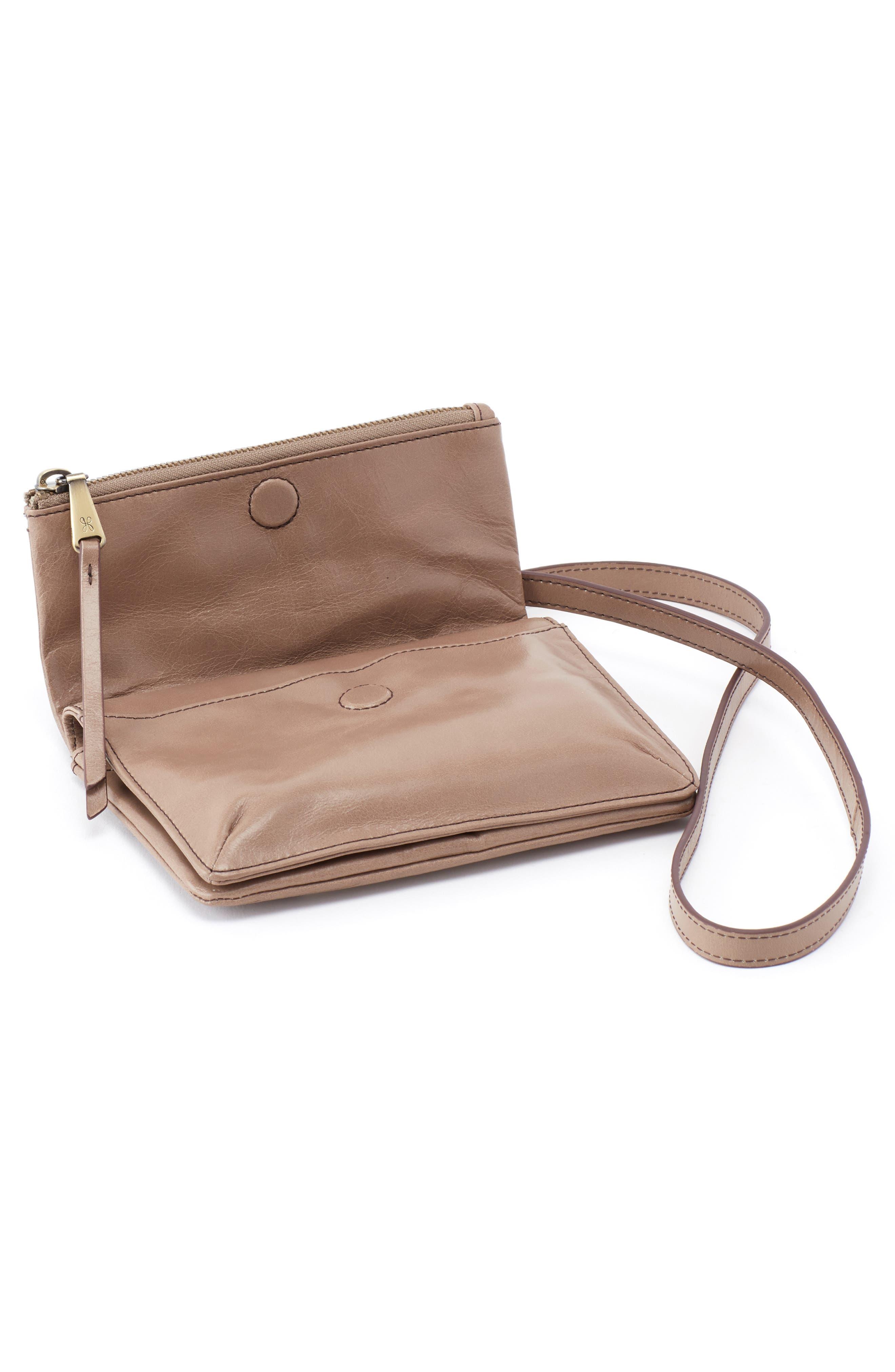 Glade Leather Crossbody Bag,                             Alternate thumbnail 4, color,                             COBBLESTONE