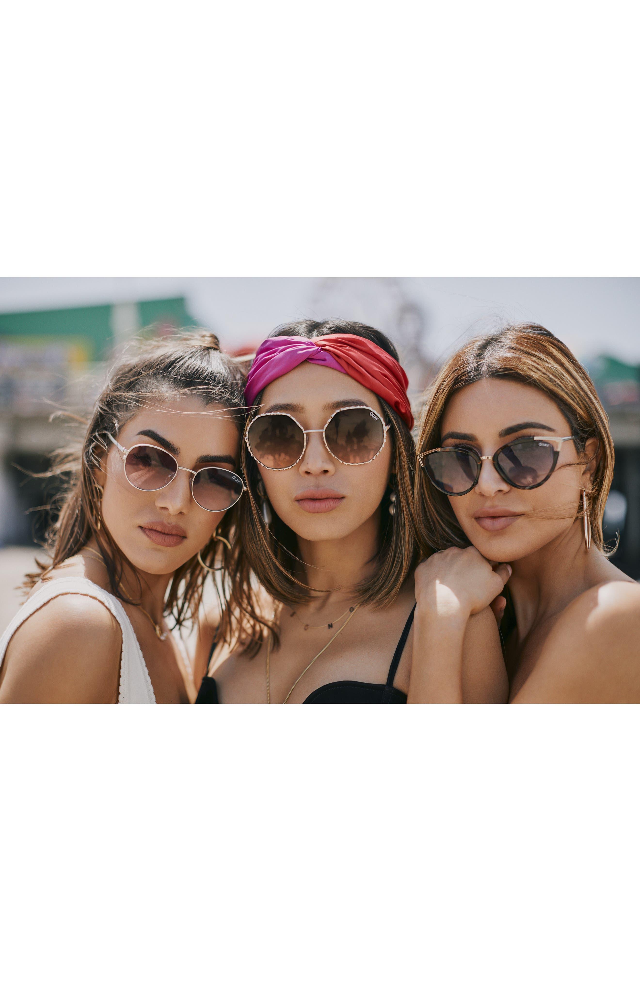 Hearsay 65mm Cat Eye Sunglasses,                             Alternate thumbnail 6, color,                             TORT/ NAVY