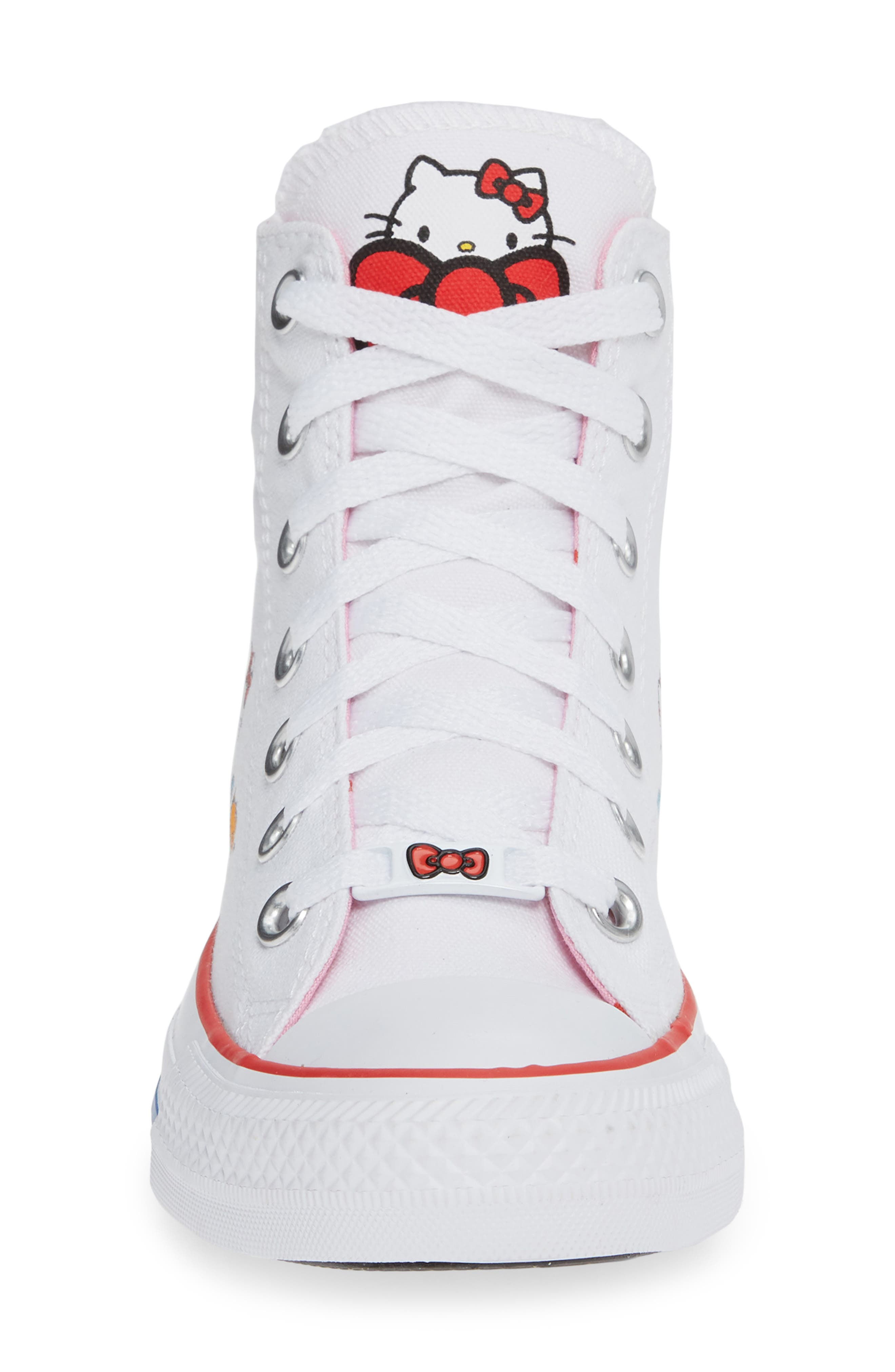 Chuck Taylor<sup>®</sup> All Star<sup>®</sup> Hello Kitty High Top Sneaker,                             Alternate thumbnail 4, color,                             102