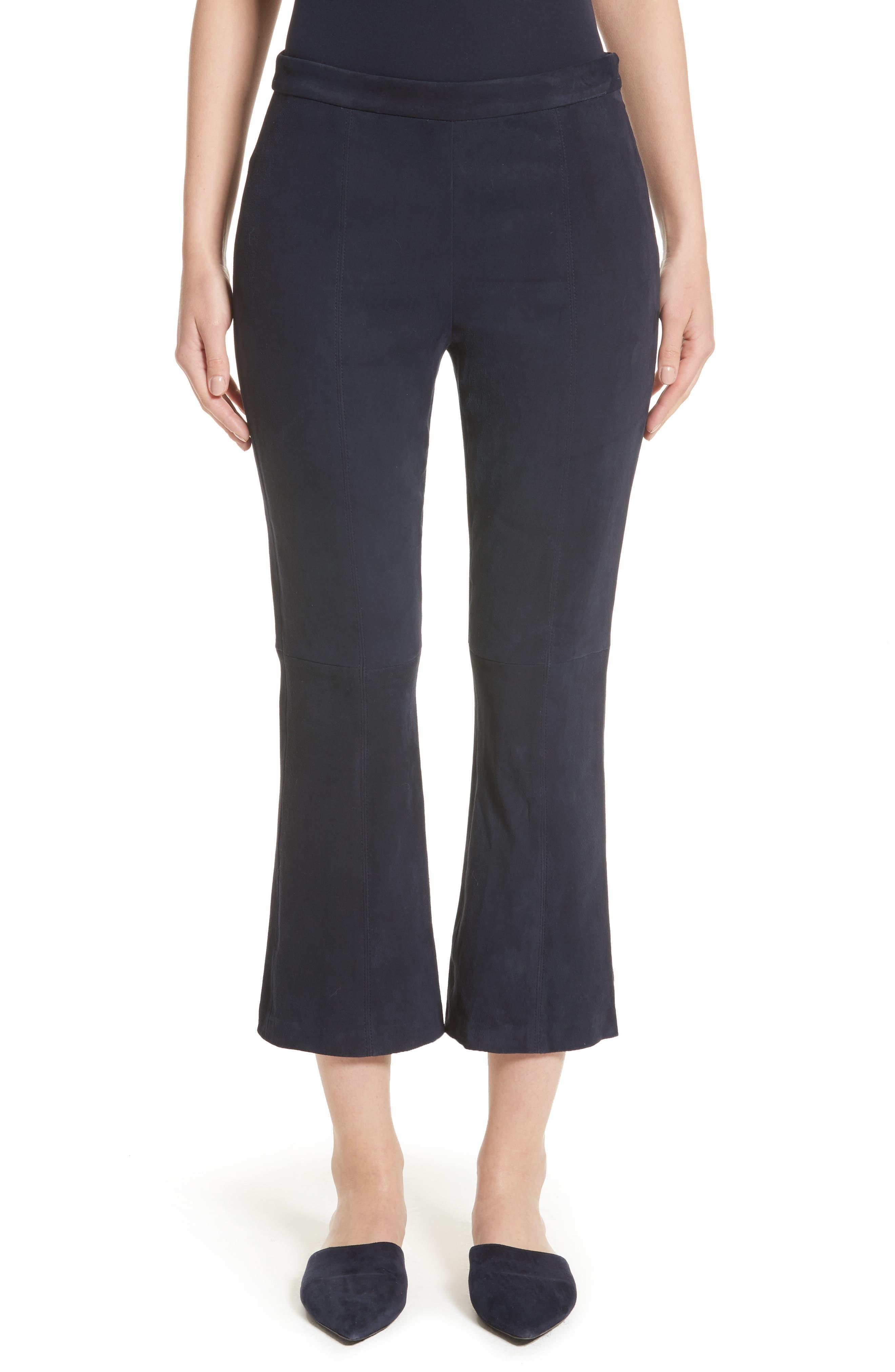 Stretch Suede Capri Pants,                         Main,                         color, 410