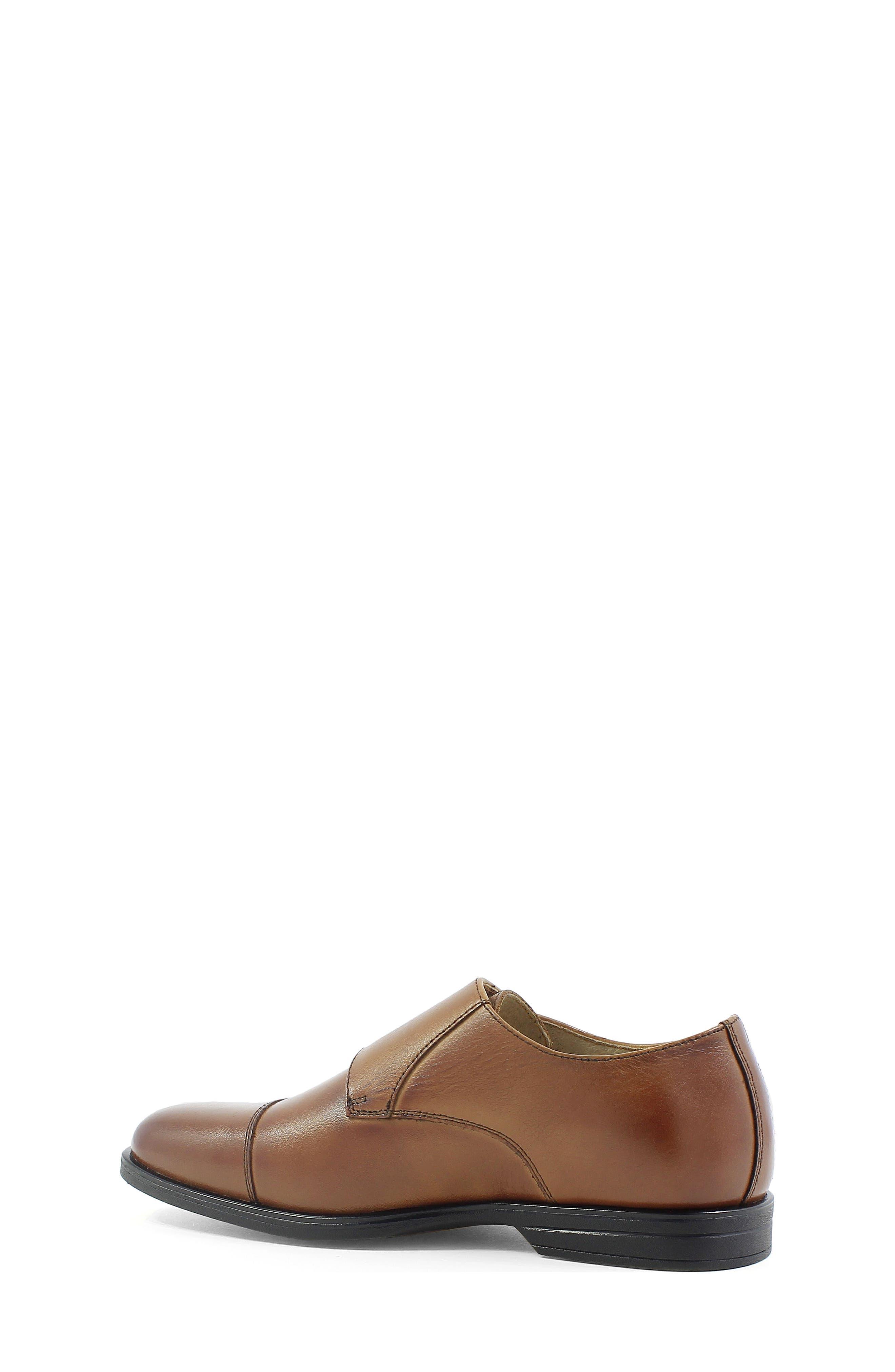 Reveal Double Monk Strap Shoe,                             Alternate thumbnail 2, color,                             COGNAC LEATHER