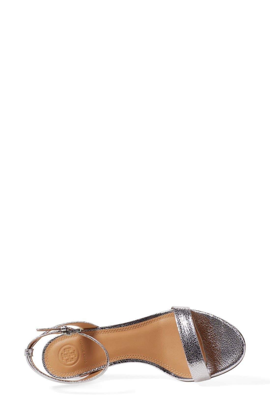 'Elana' Ankle Strap Sandal,                             Alternate thumbnail 4, color,                             043