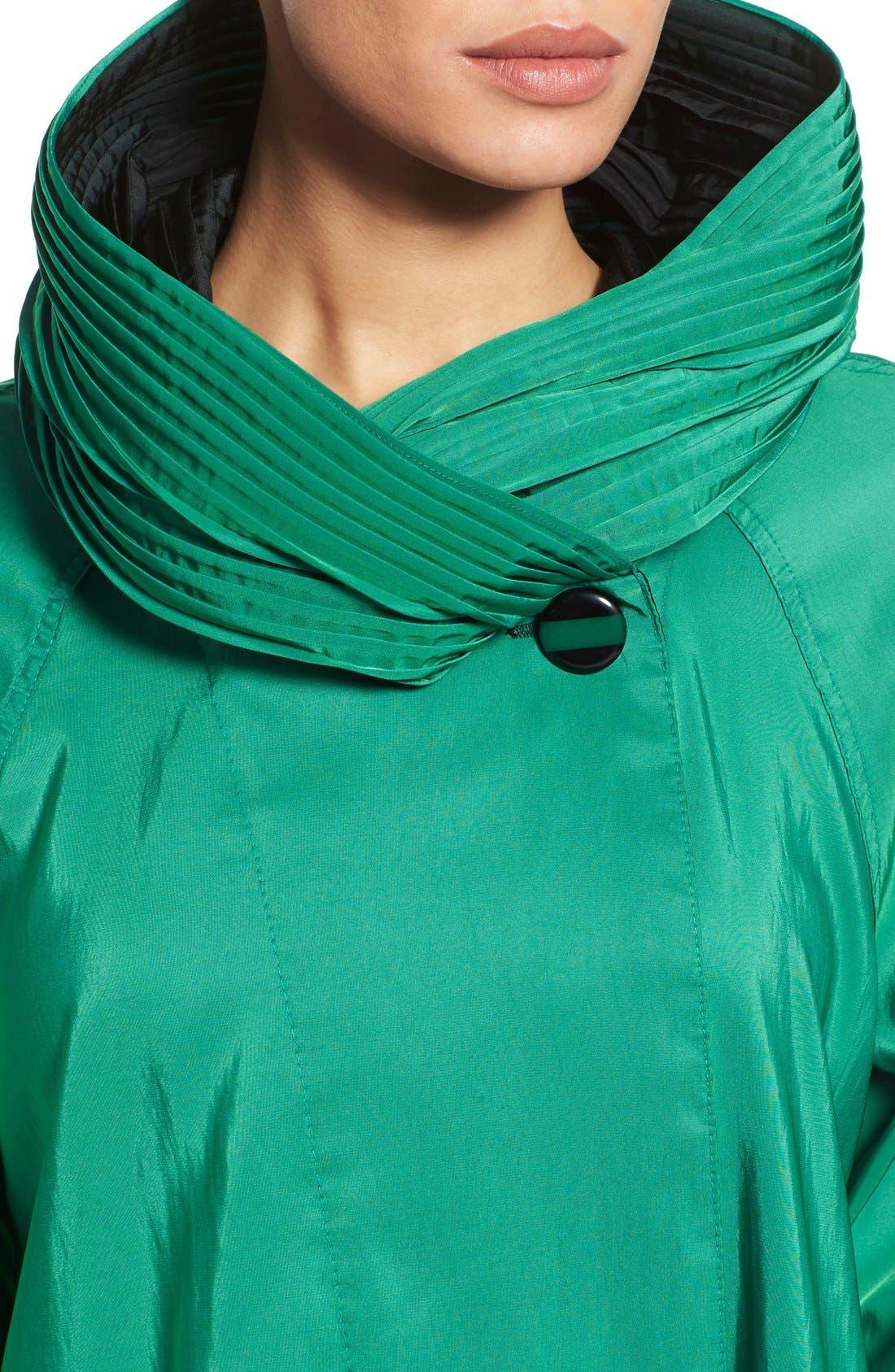 'Mini Donatella' Reversible Pleat Hood Packable Travel Coat,                             Alternate thumbnail 51, color,
