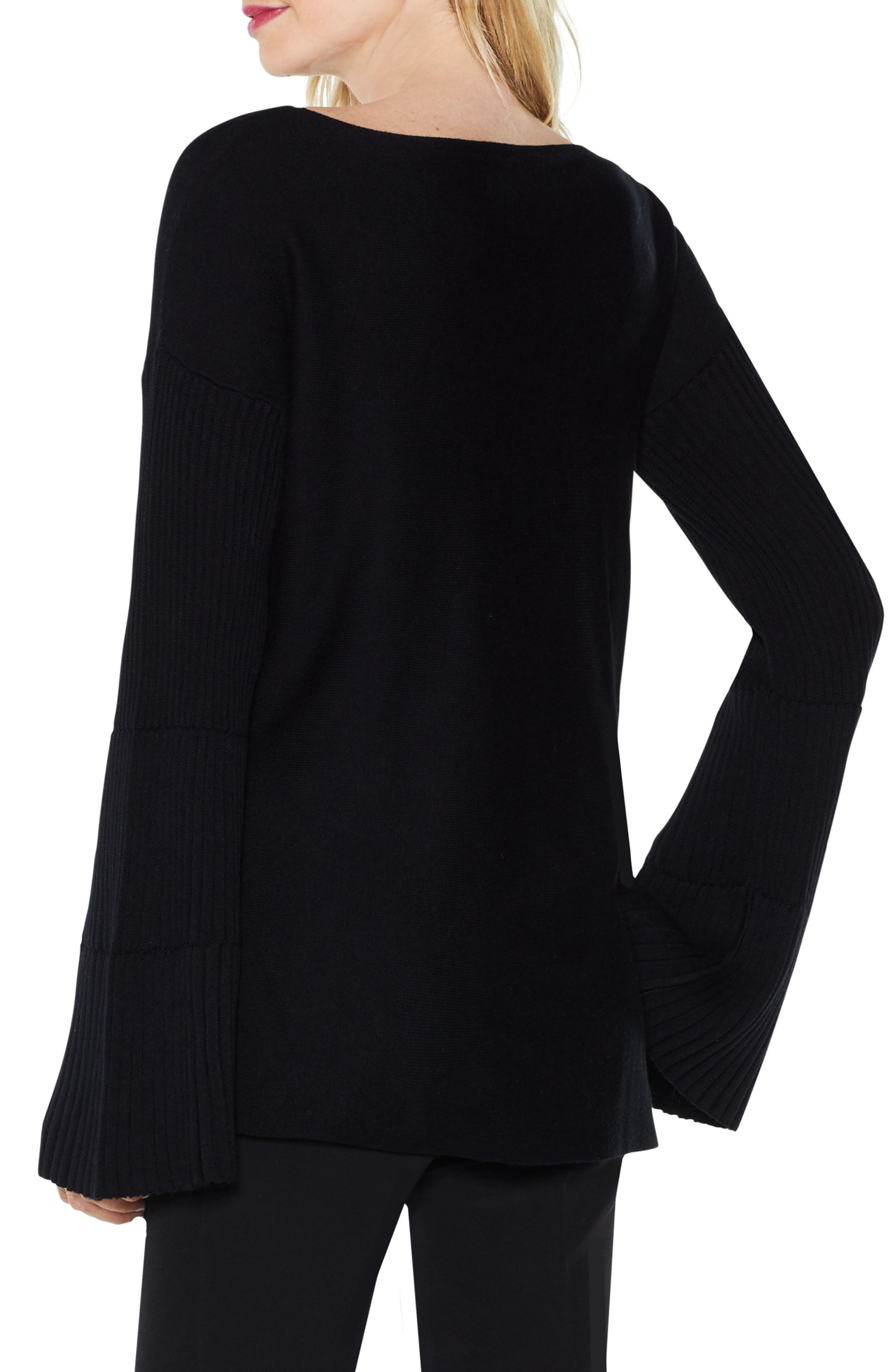 Bell Sleeve Ribbed Sweater,                             Alternate thumbnail 11, color,