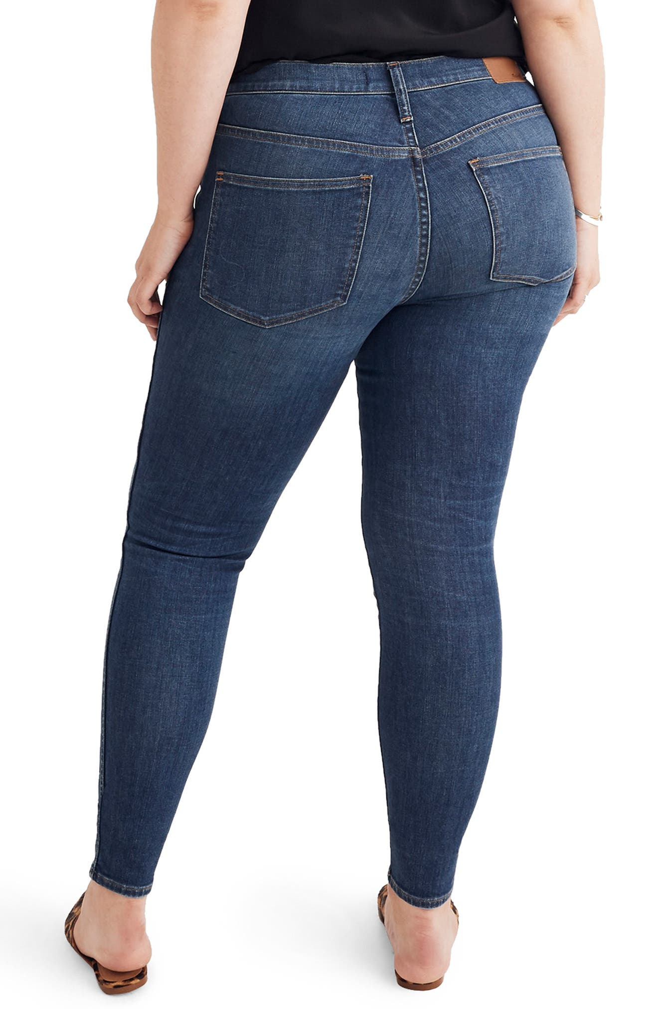 Eco Collection High Rise Skinny Jeans,                             Alternate thumbnail 7, color,                             ELINOR