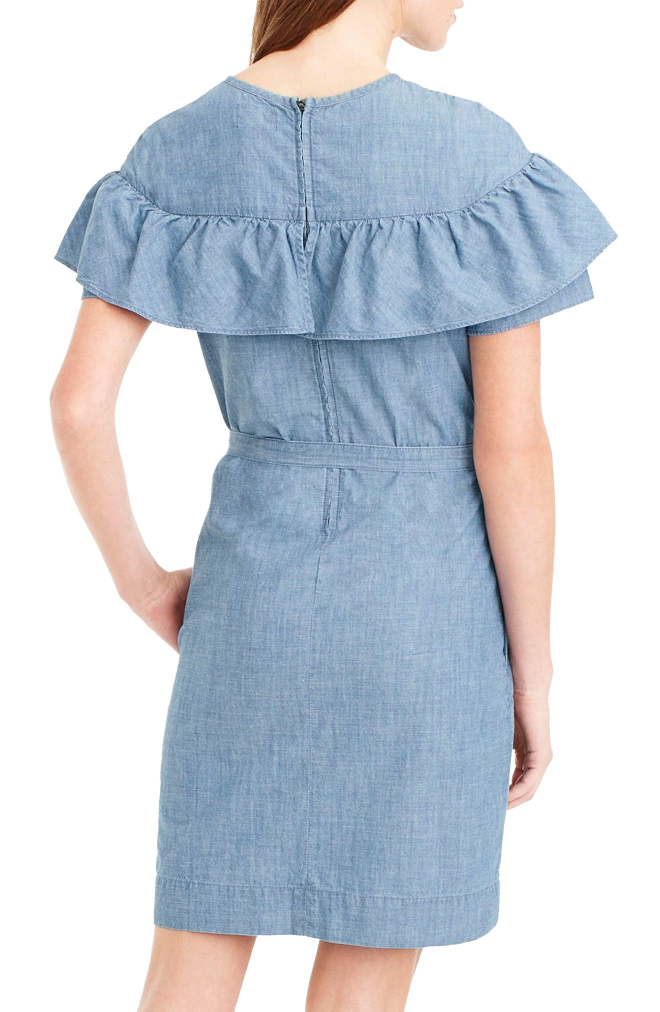 Edie Chambray Dress,                             Alternate thumbnail 2, color,                             400