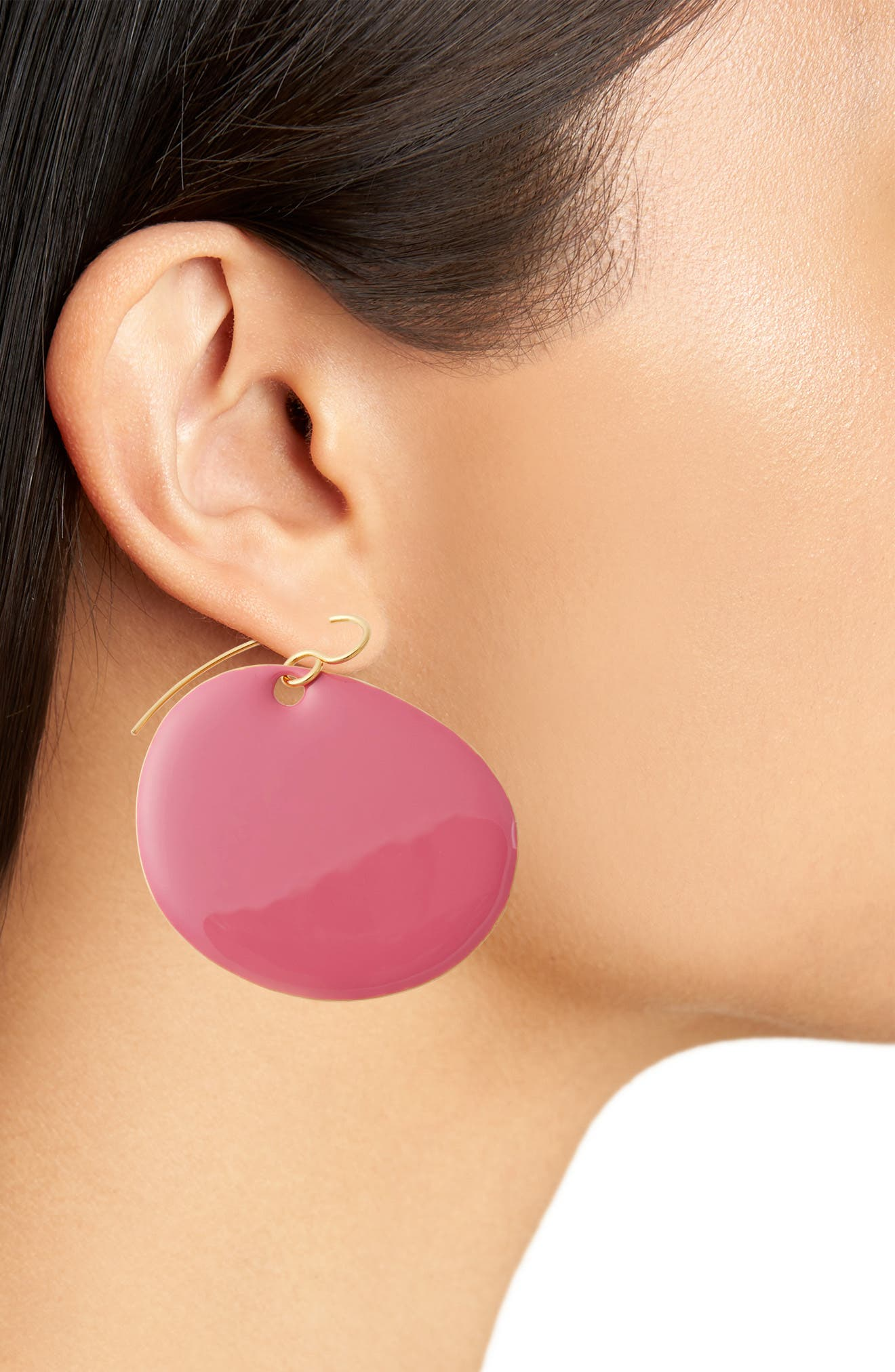 Flat Disc Earrings,                             Alternate thumbnail 8, color,