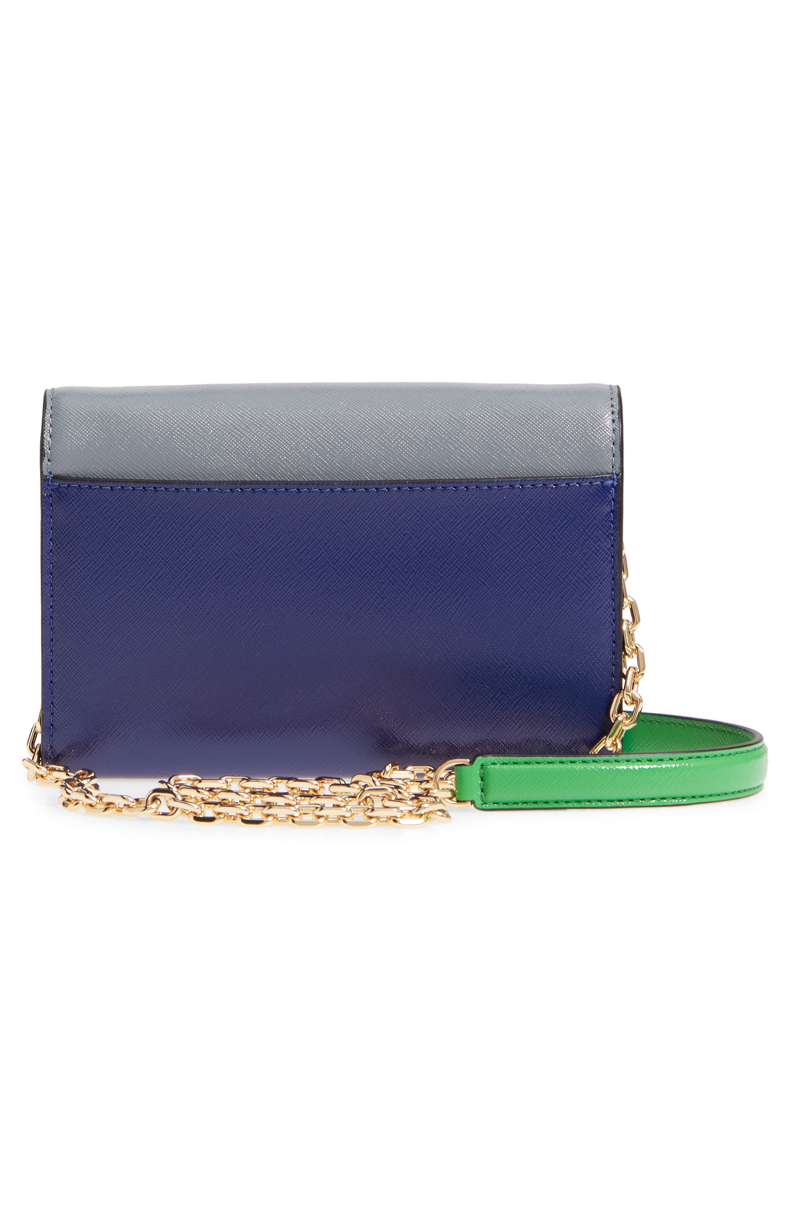 Snapshot Leather Wallet on a Chain,                             Alternate thumbnail 3, color,                             SLATE MULTI