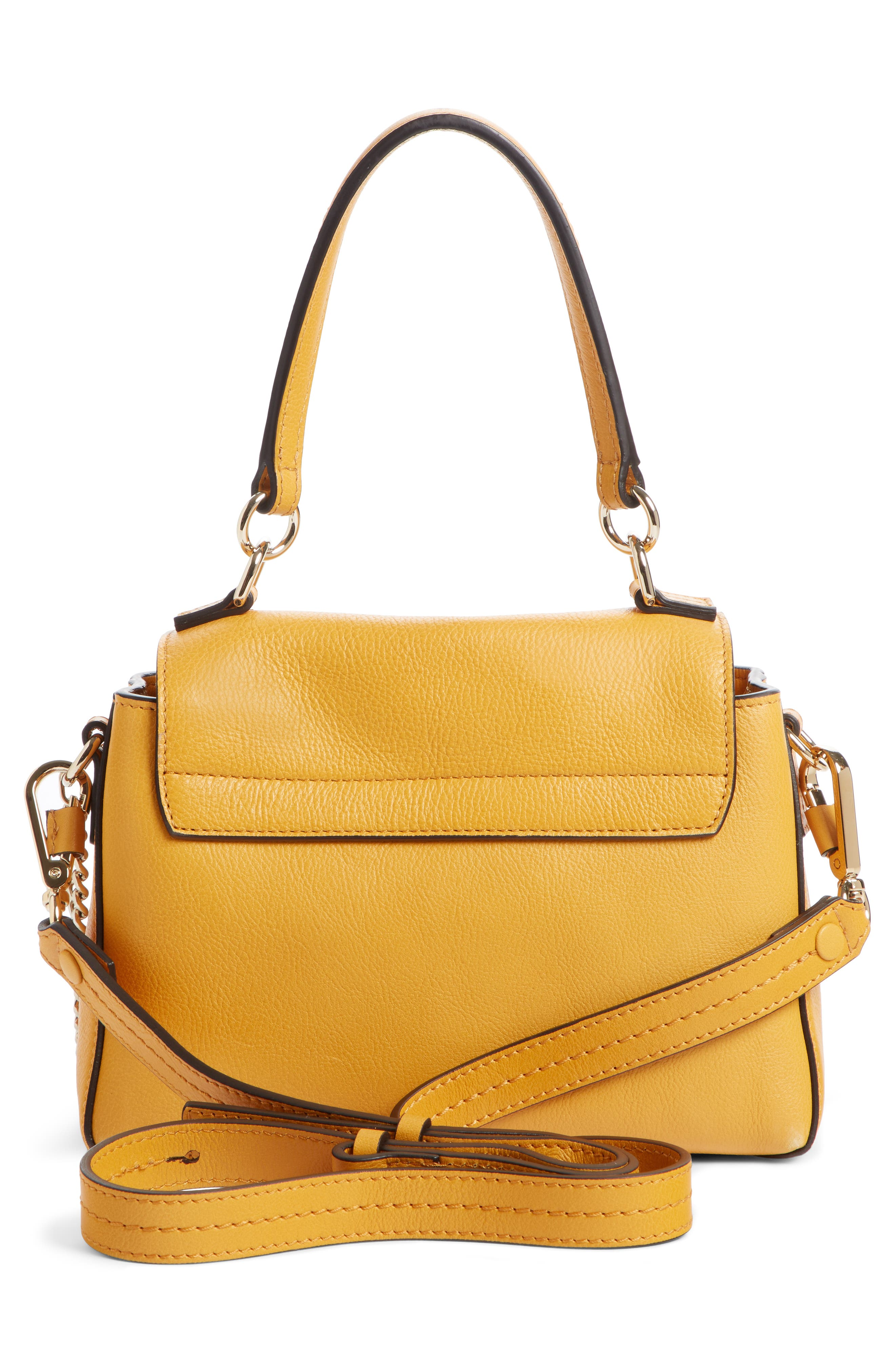 Mini Faye Day Leather Crossbody Bag,                             Alternate thumbnail 2, color,                             BURNING CAMEL