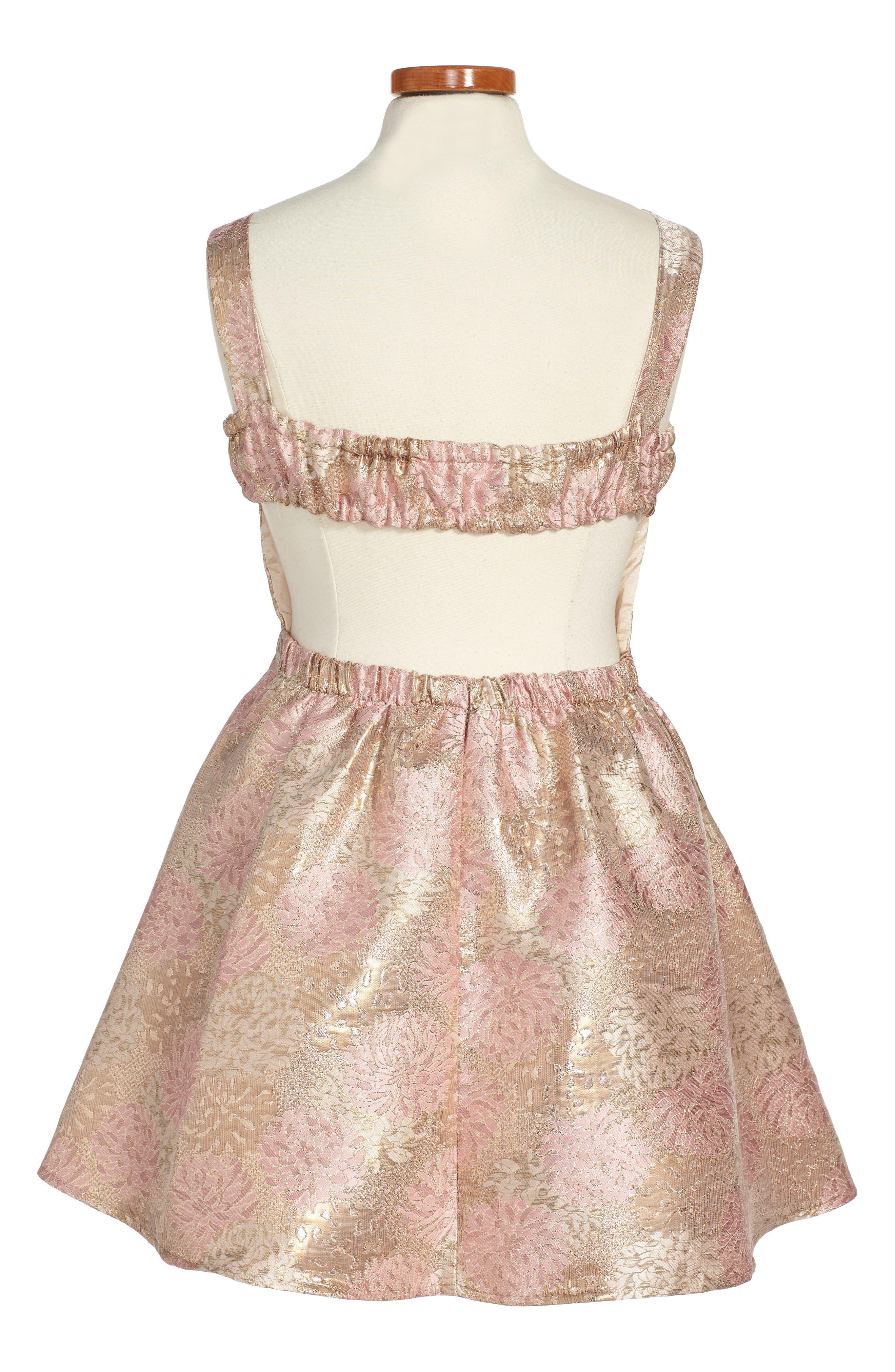 Floral Jacquard Skater Dress,                             Alternate thumbnail 2, color,                             650