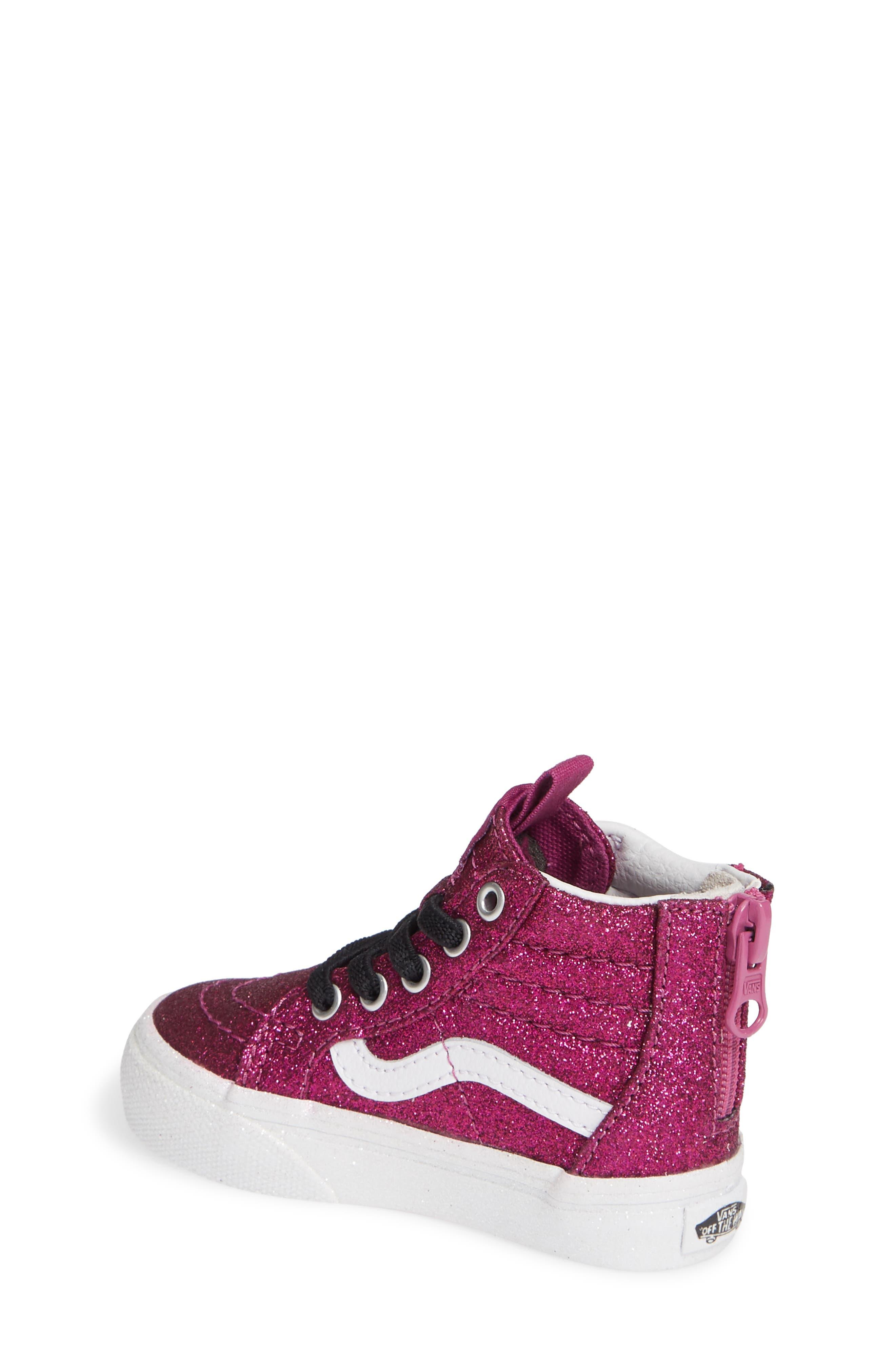 SK8-Hi Zip Sneaker,                             Alternate thumbnail 2, color,                             WILD ASTER/ TRUE WHITE