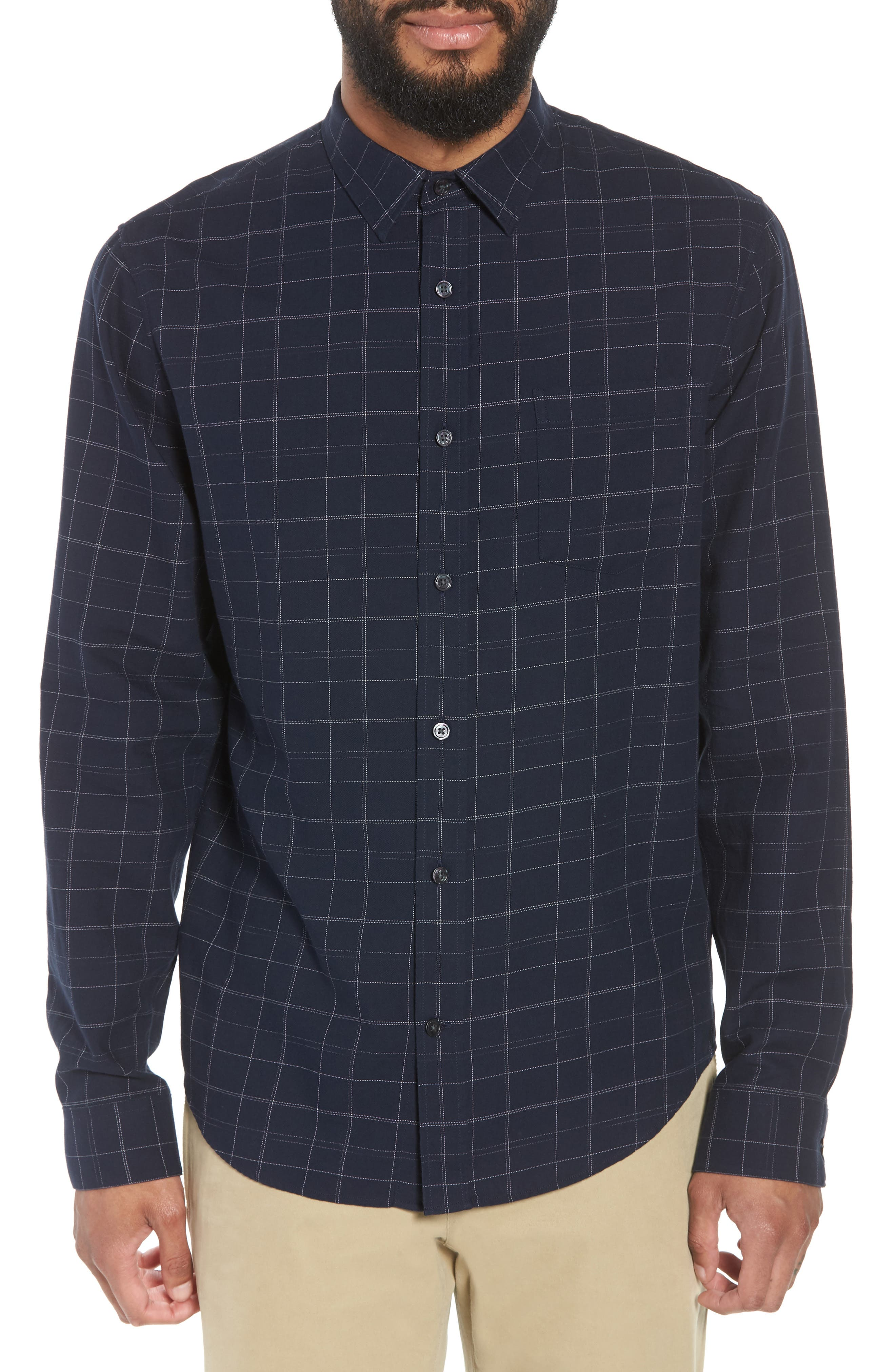 Classic Fit Plaid Sport Shirt,                         Main,                         color, 463