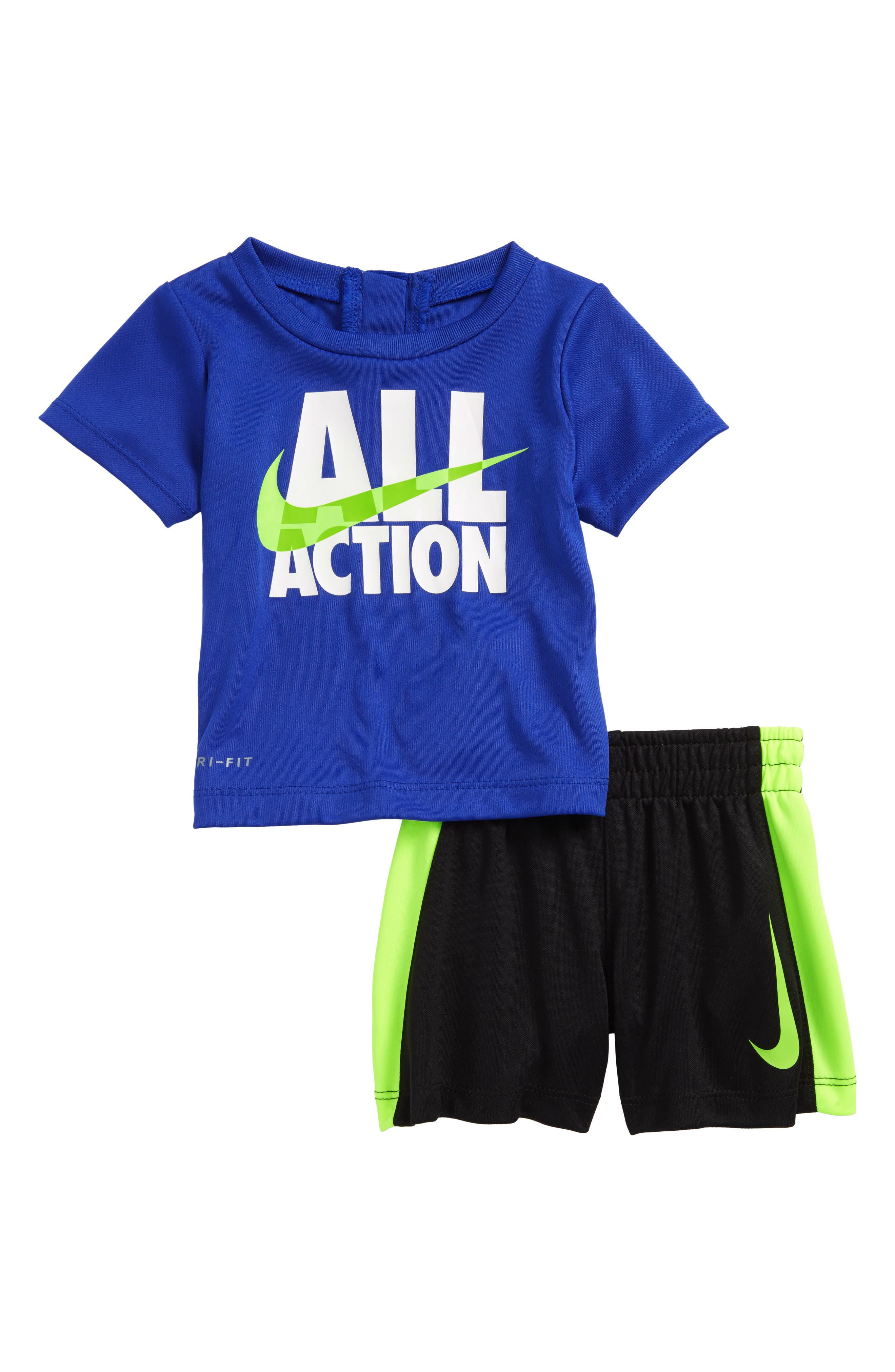 All Action Dry T-Shirt & Shorts Set,                             Main thumbnail 1, color,                             434