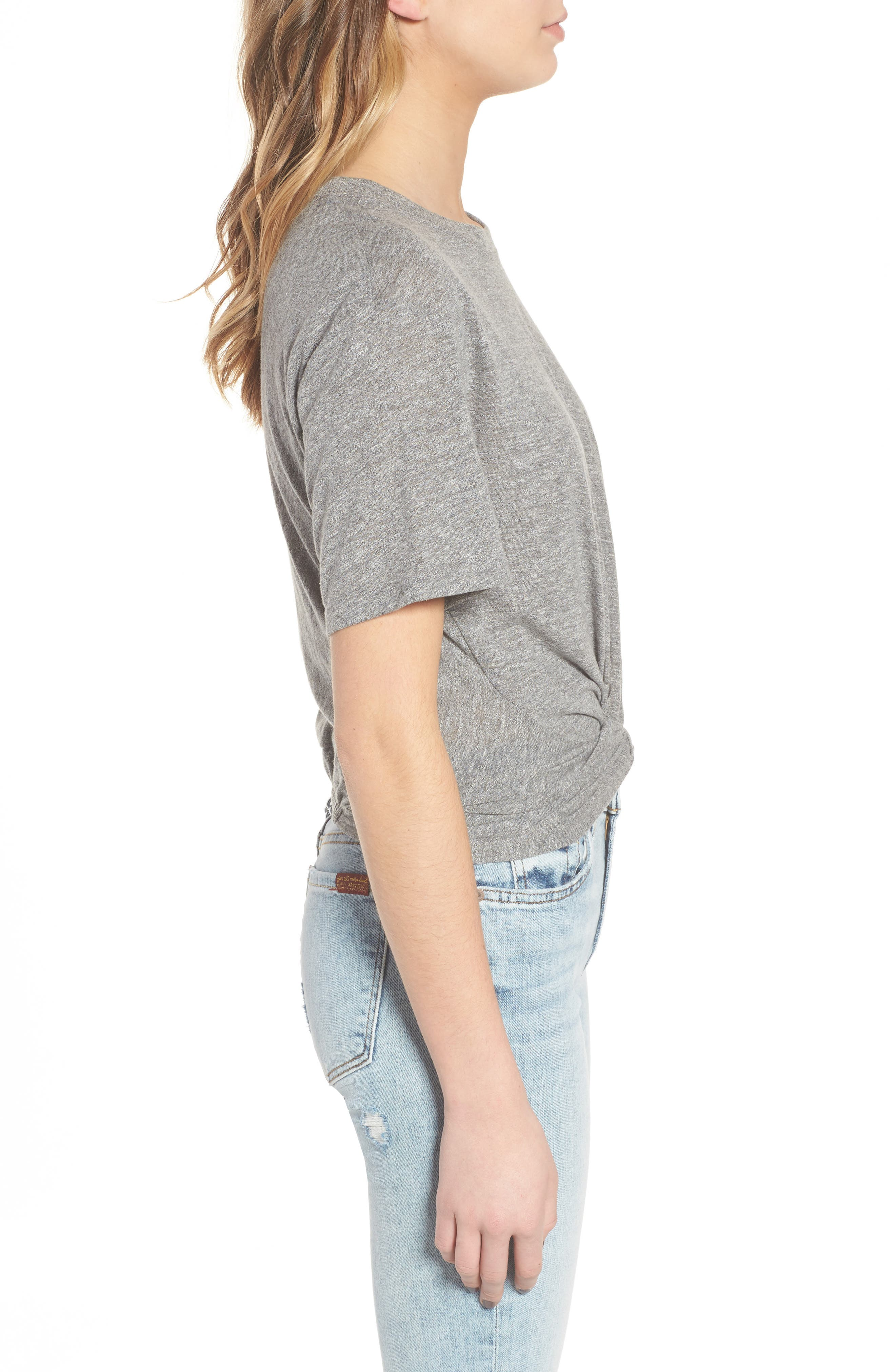 7 FOR ALL MANKIND<SUP>®</SUP>,                             Knotted Tee,                             Alternate thumbnail 3, color,                             021