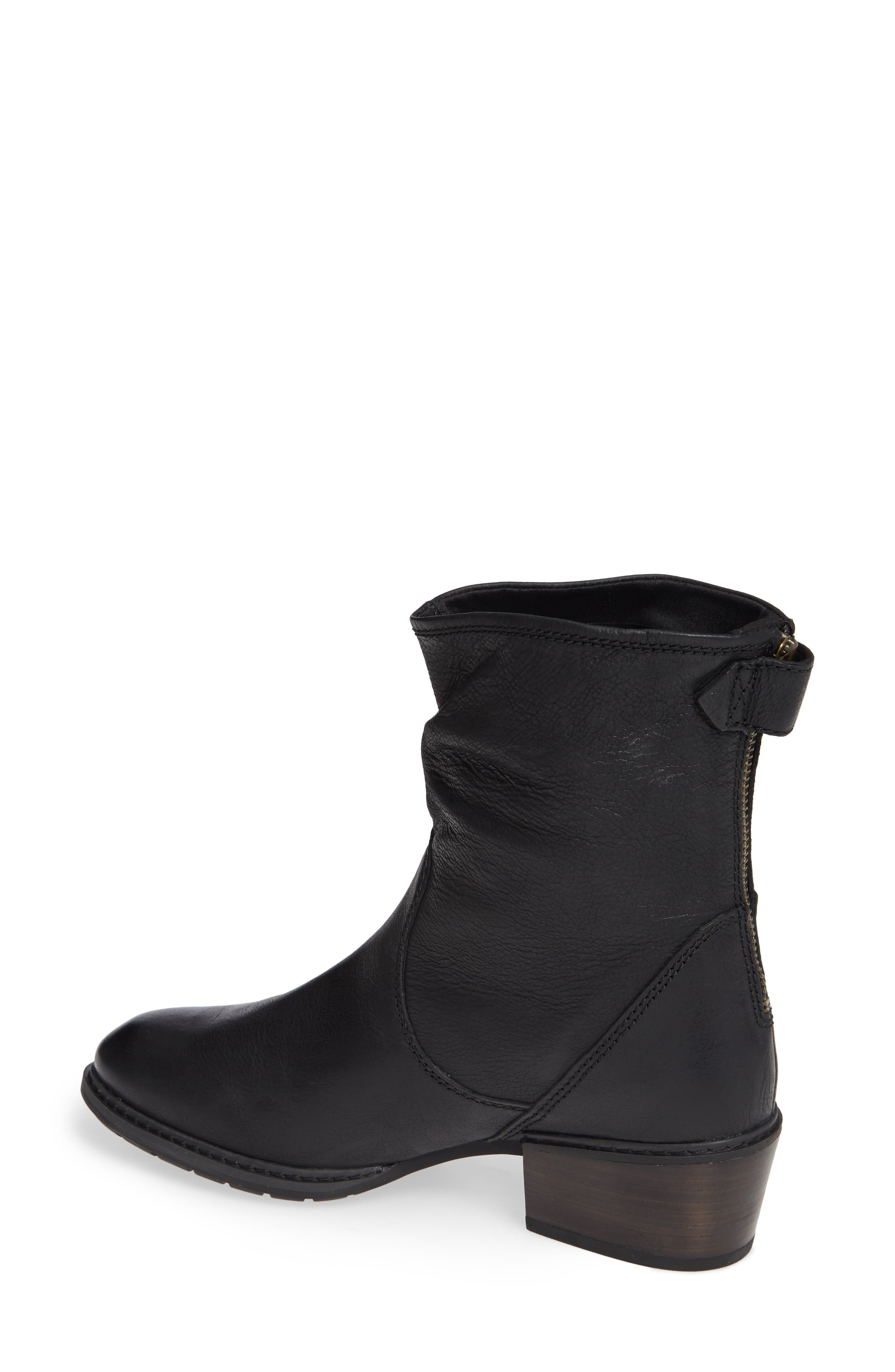 Sutherlin Bay Water Resistant Bootie,                             Alternate thumbnail 2, color,                             JET BLACK LEATHER