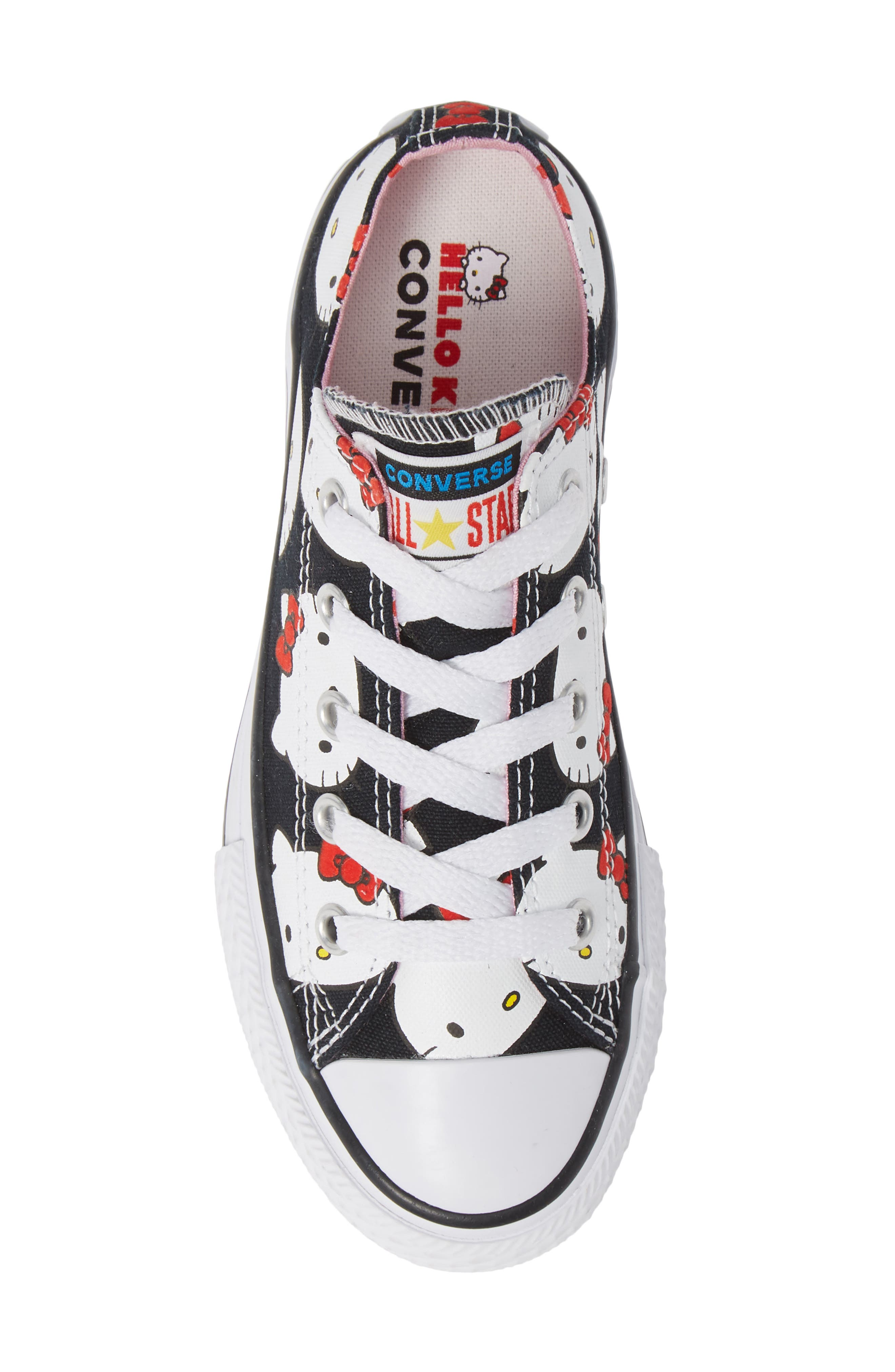 Chuck Taylor<sup>®</sup> All Star<sup>®</sup> Hello Kitty<sup>®</sup> Sneaker,                             Alternate thumbnail 5, color,                             BLACK