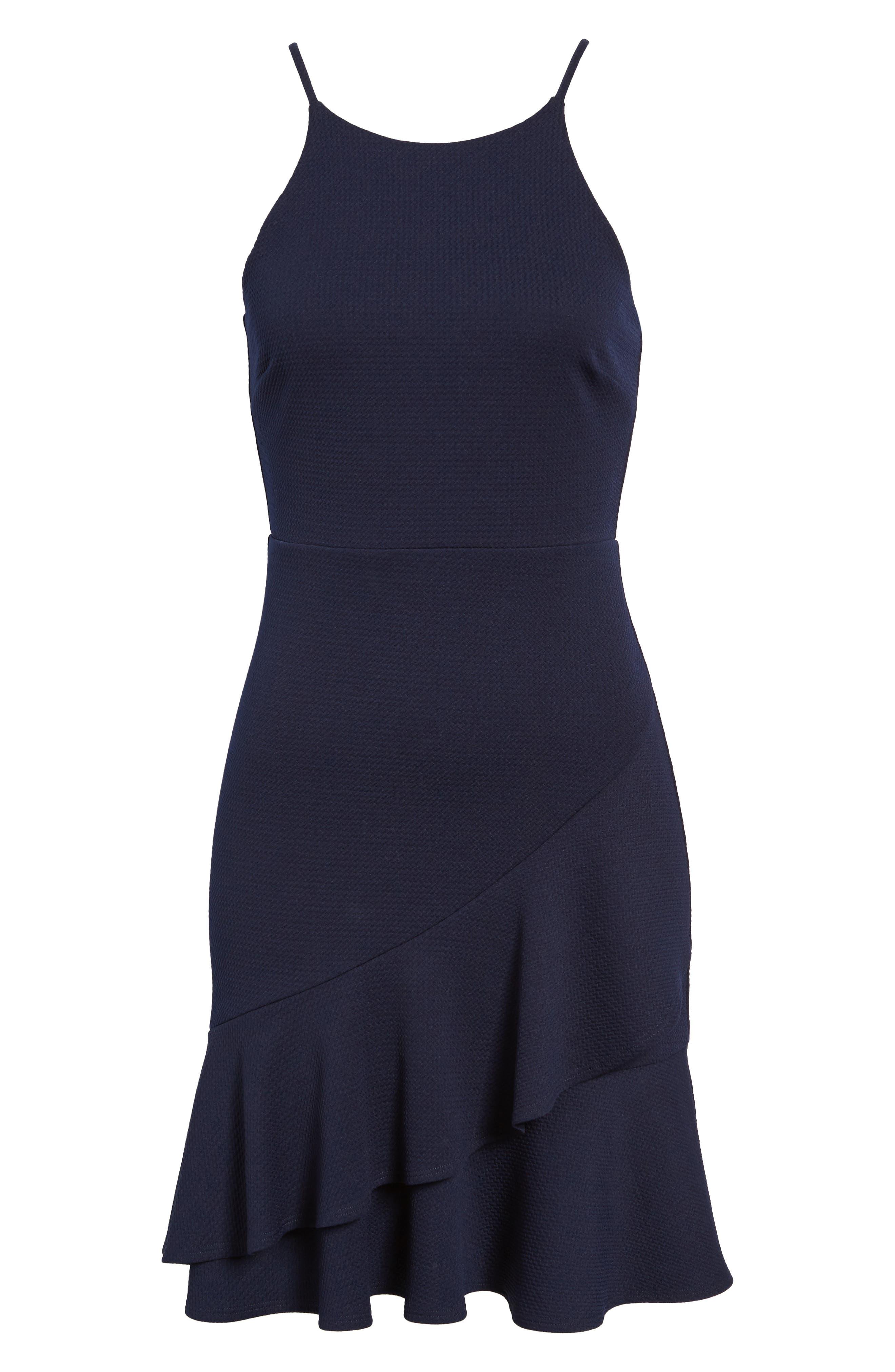 Ruffle Hem Knit Dress,                             Alternate thumbnail 6, color,                             415