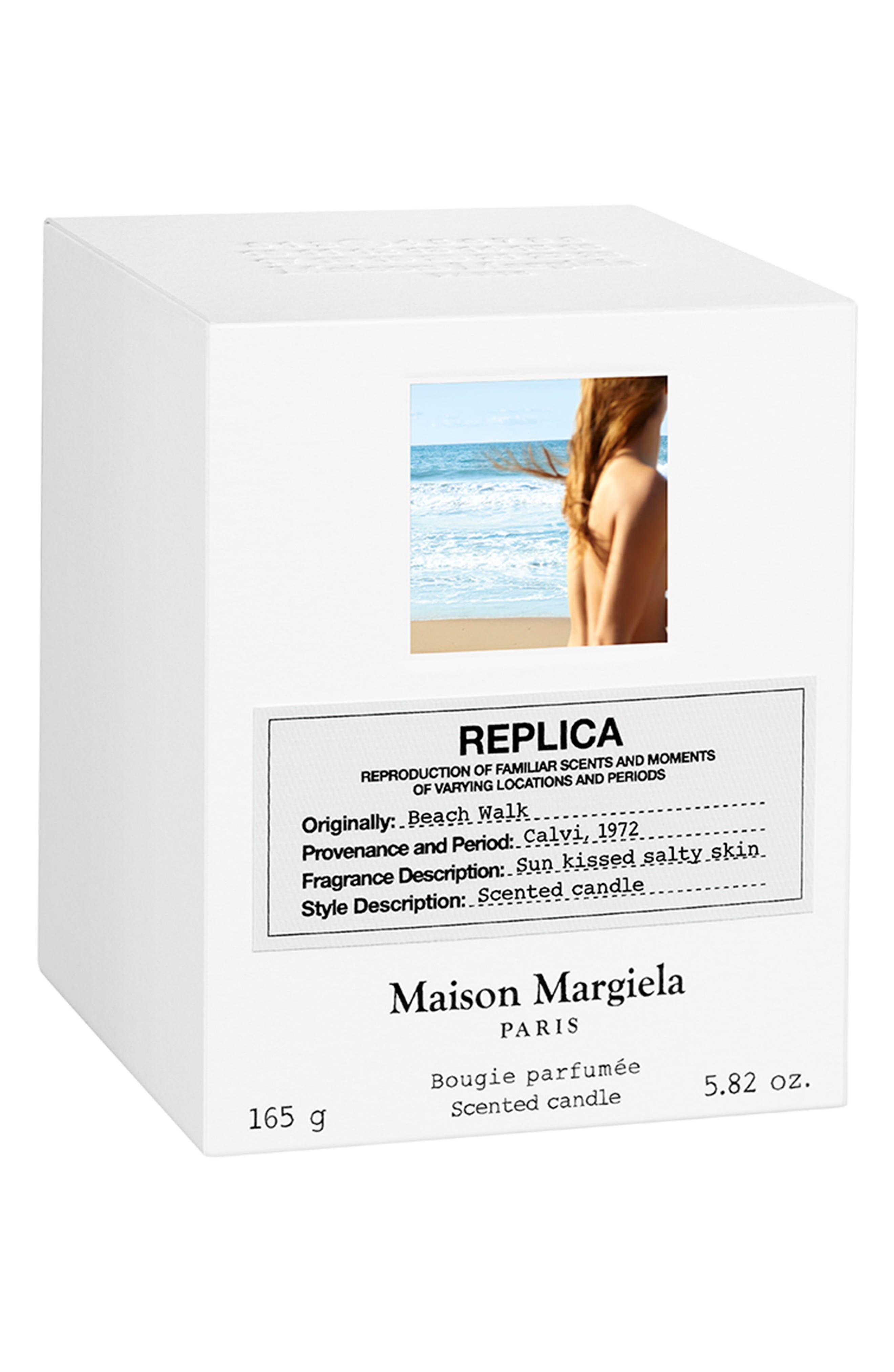Replica Beach Walk Scented Candle,                             Alternate thumbnail 3, color,                             000