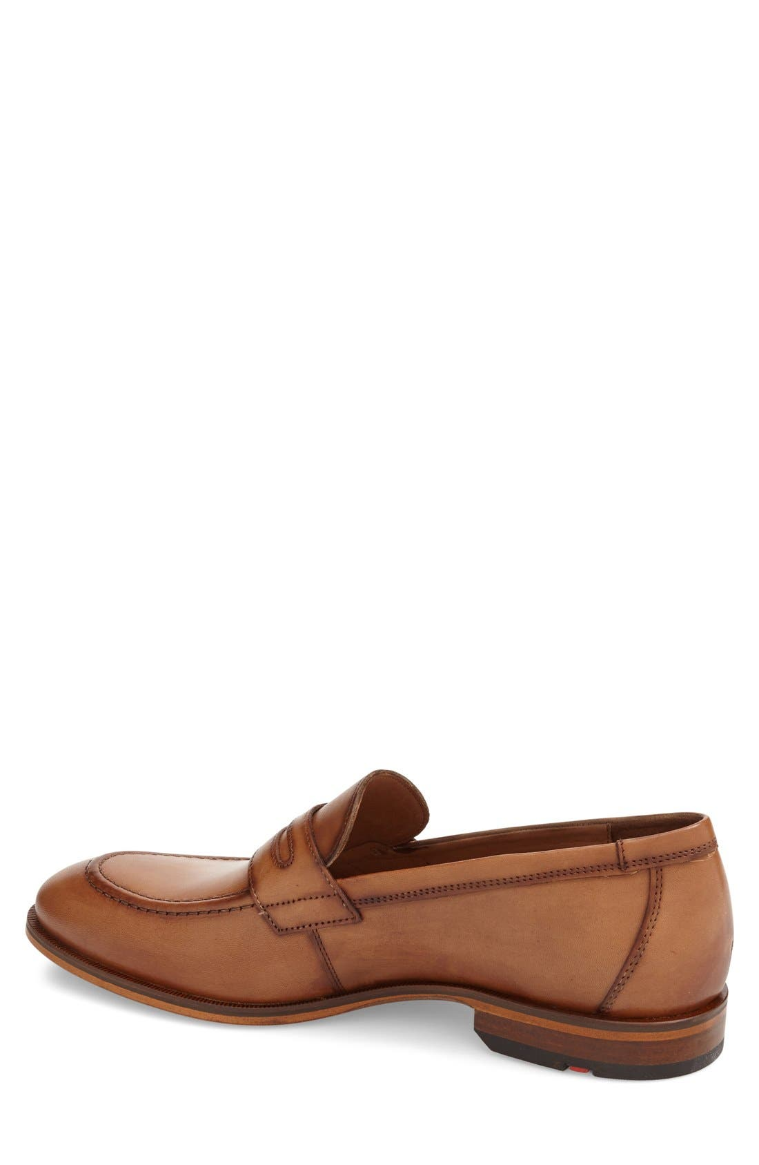 'Pete' Penny Loafer,                             Alternate thumbnail 2, color,                             COGNAC
