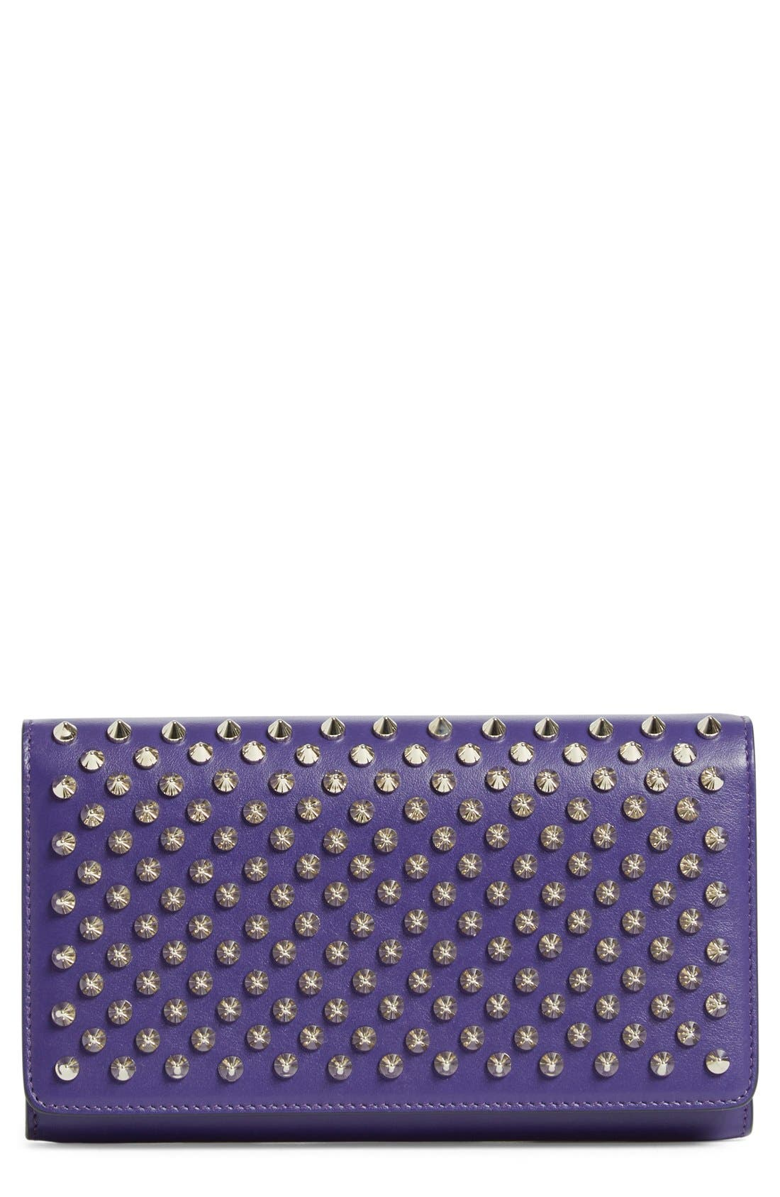 'Macaron' Studded Leather Continental Wallet,                             Main thumbnail 3, color,