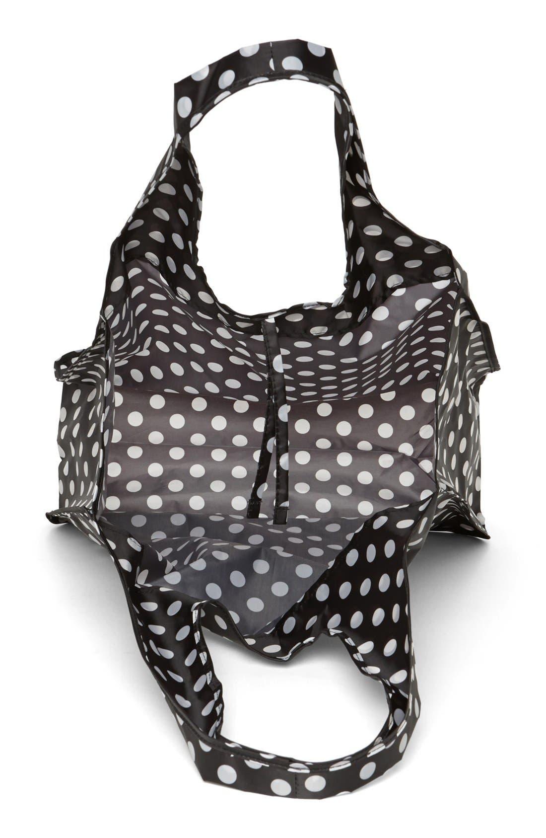 'polka dot' reusable shopping tote,                             Alternate thumbnail 2, color,                             001