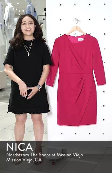 Faux Wrap Ponte Sheath Dress, sales video thumbnail