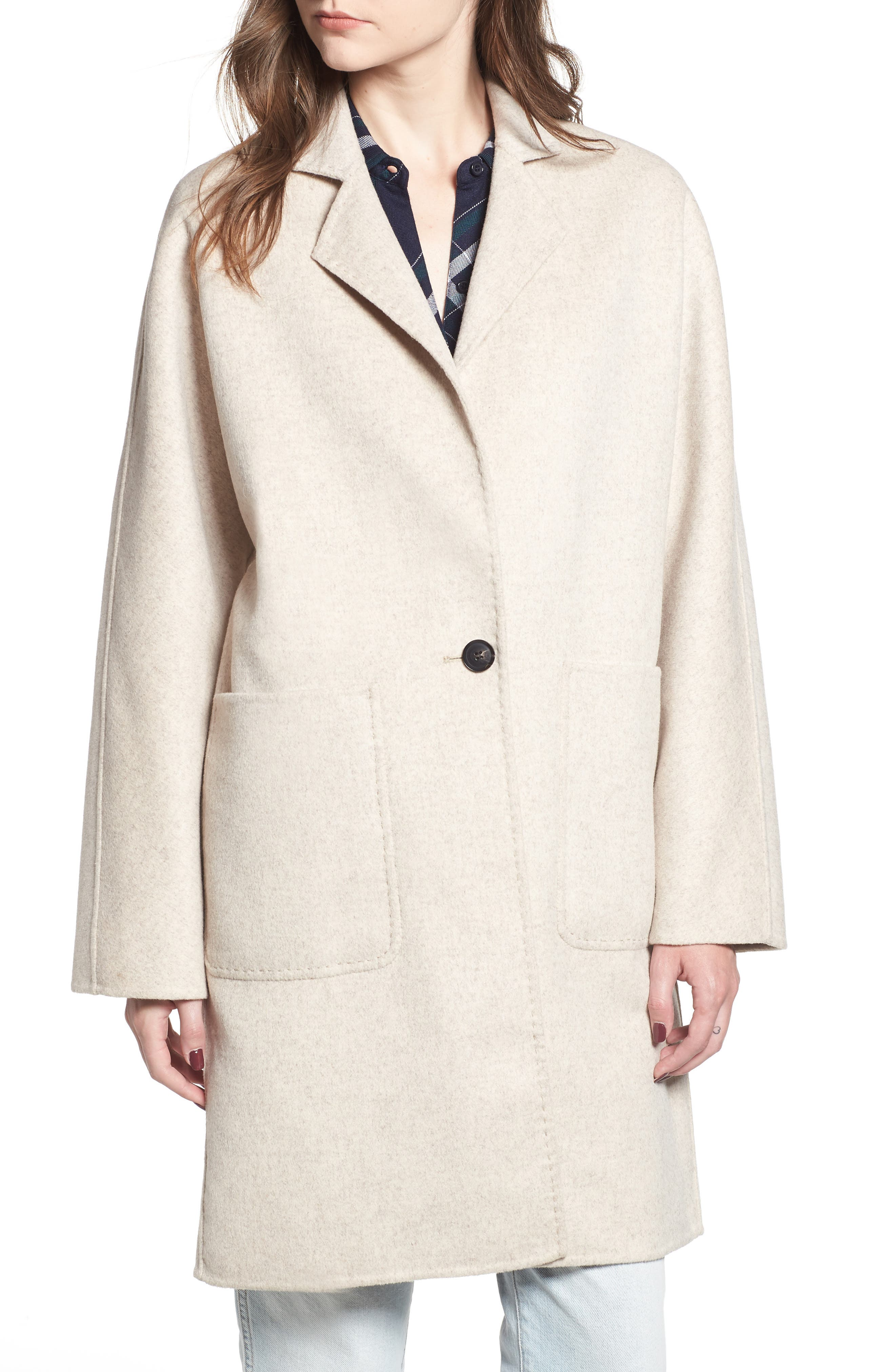 Everest Wool Blend Coat,                             Alternate thumbnail 6, color,                             OATMEAL