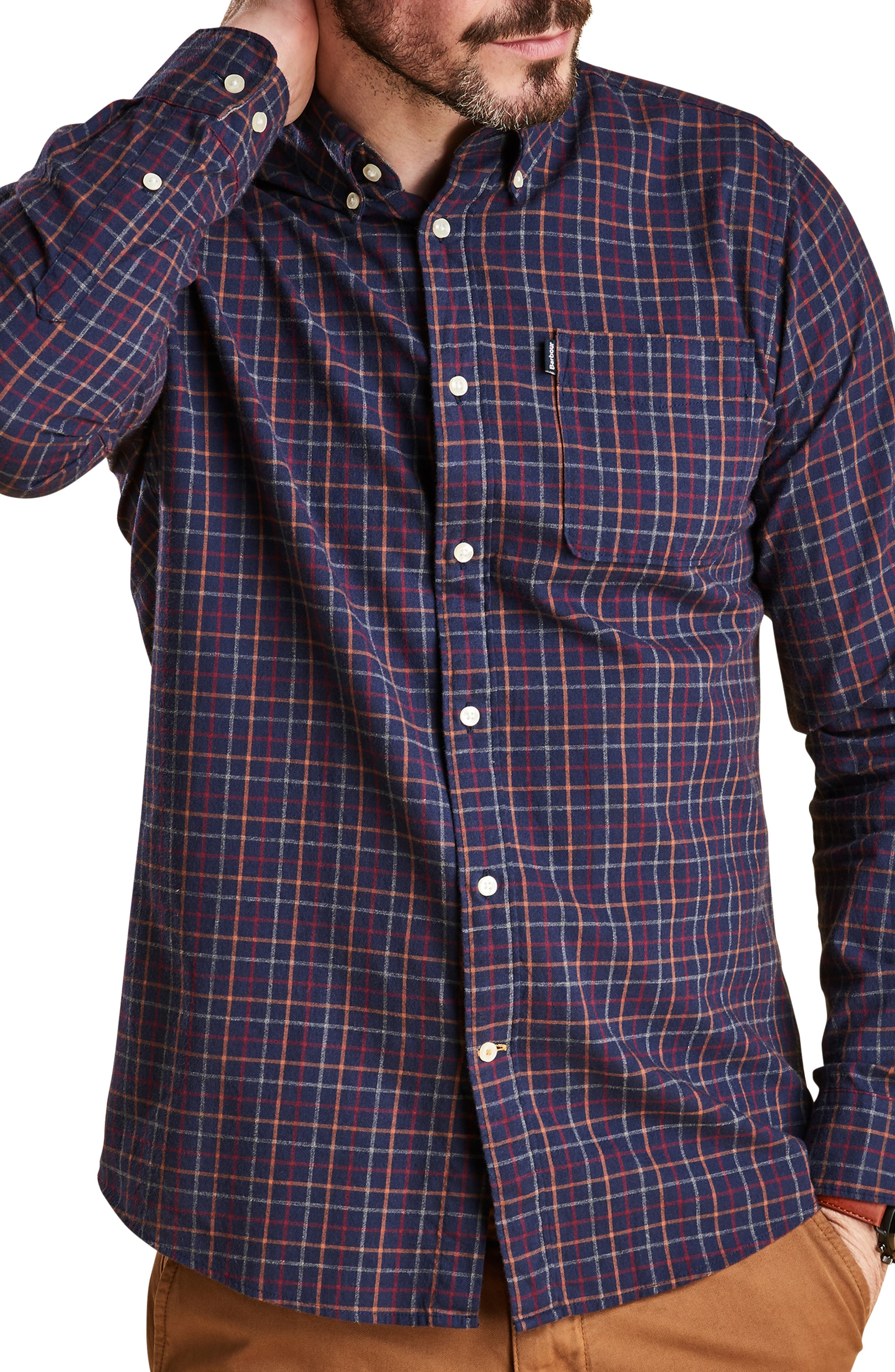 Endsleigh Tattersall Cotton Flannel Shirt,                         Main,                         color, 410