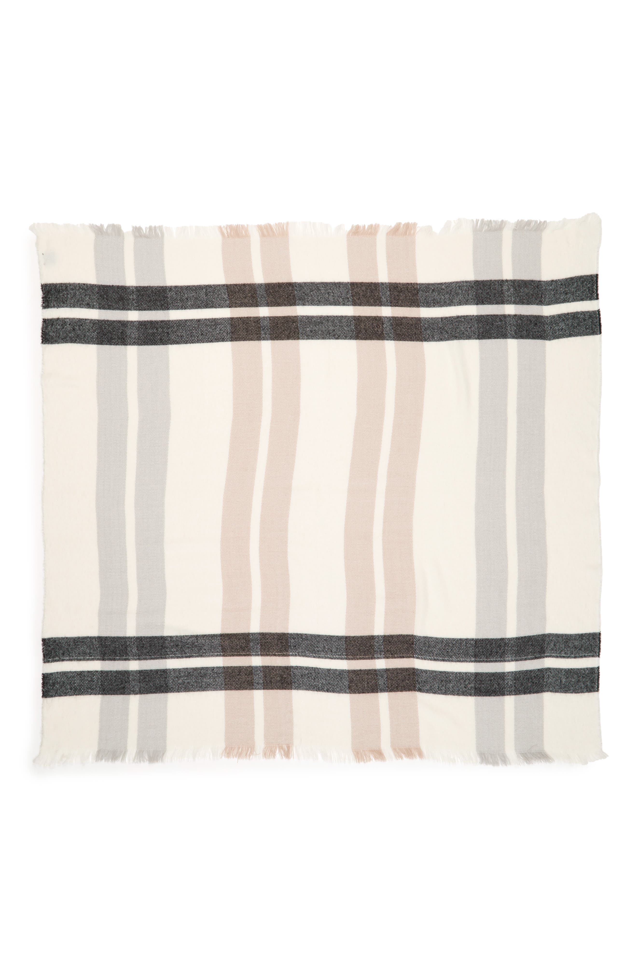 Accessory Collective Plaid Scarf,                             Alternate thumbnail 2, color,                             900