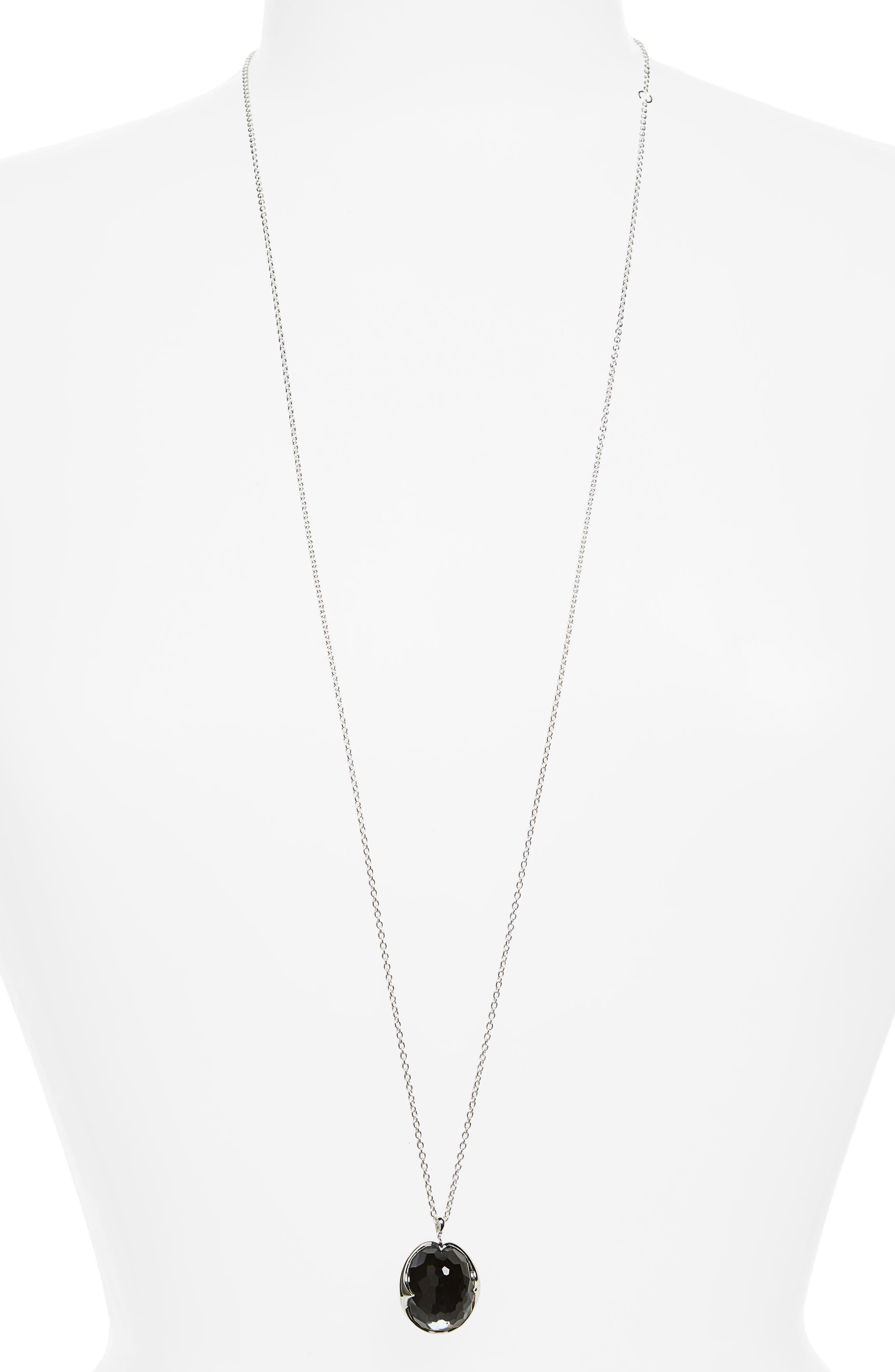 Rock Candy Long Pendant Necklace,                             Alternate thumbnail 2, color,                             SILVER