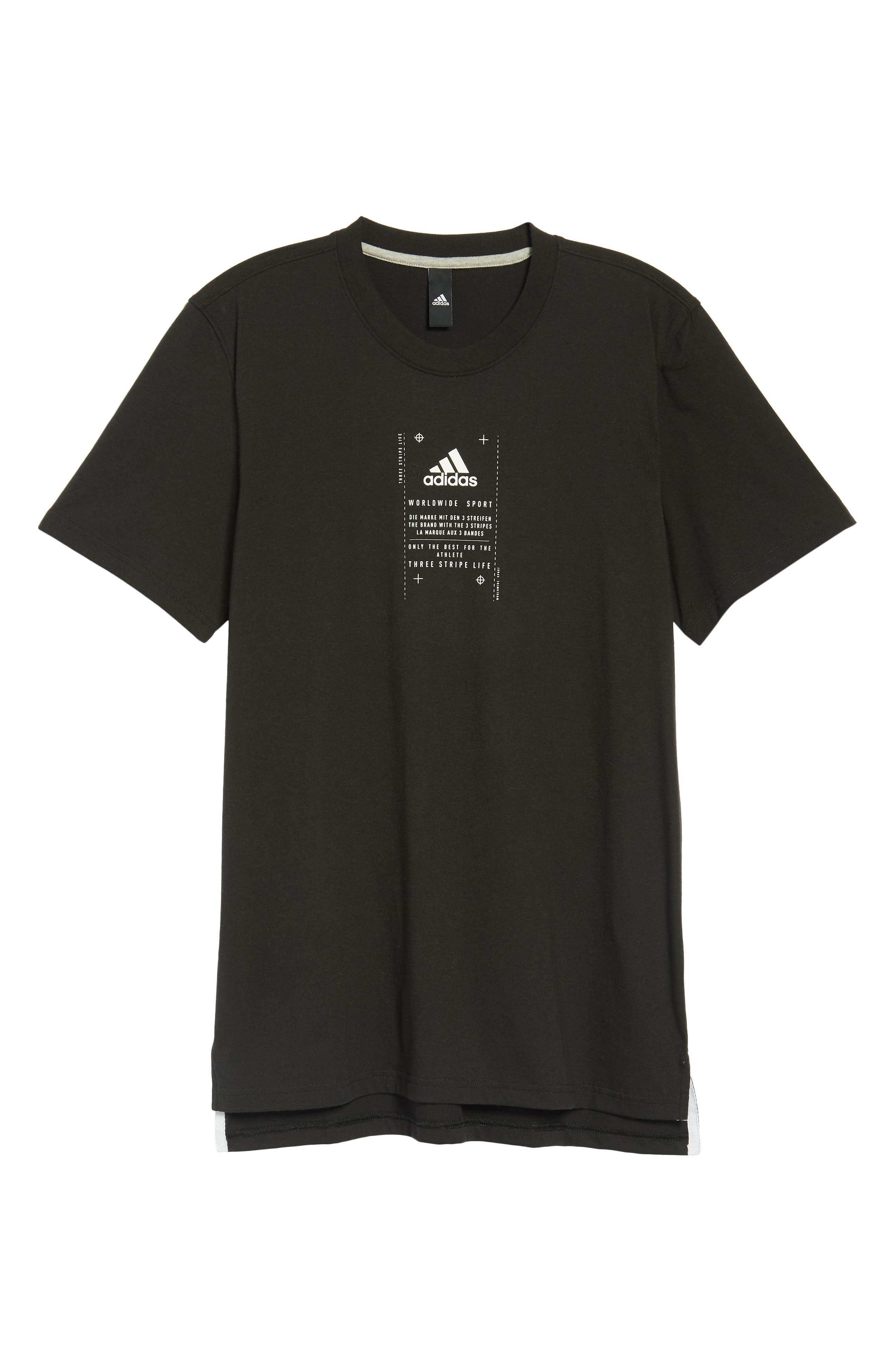 BOS Label T-Shirt,                             Alternate thumbnail 4, color,                             001