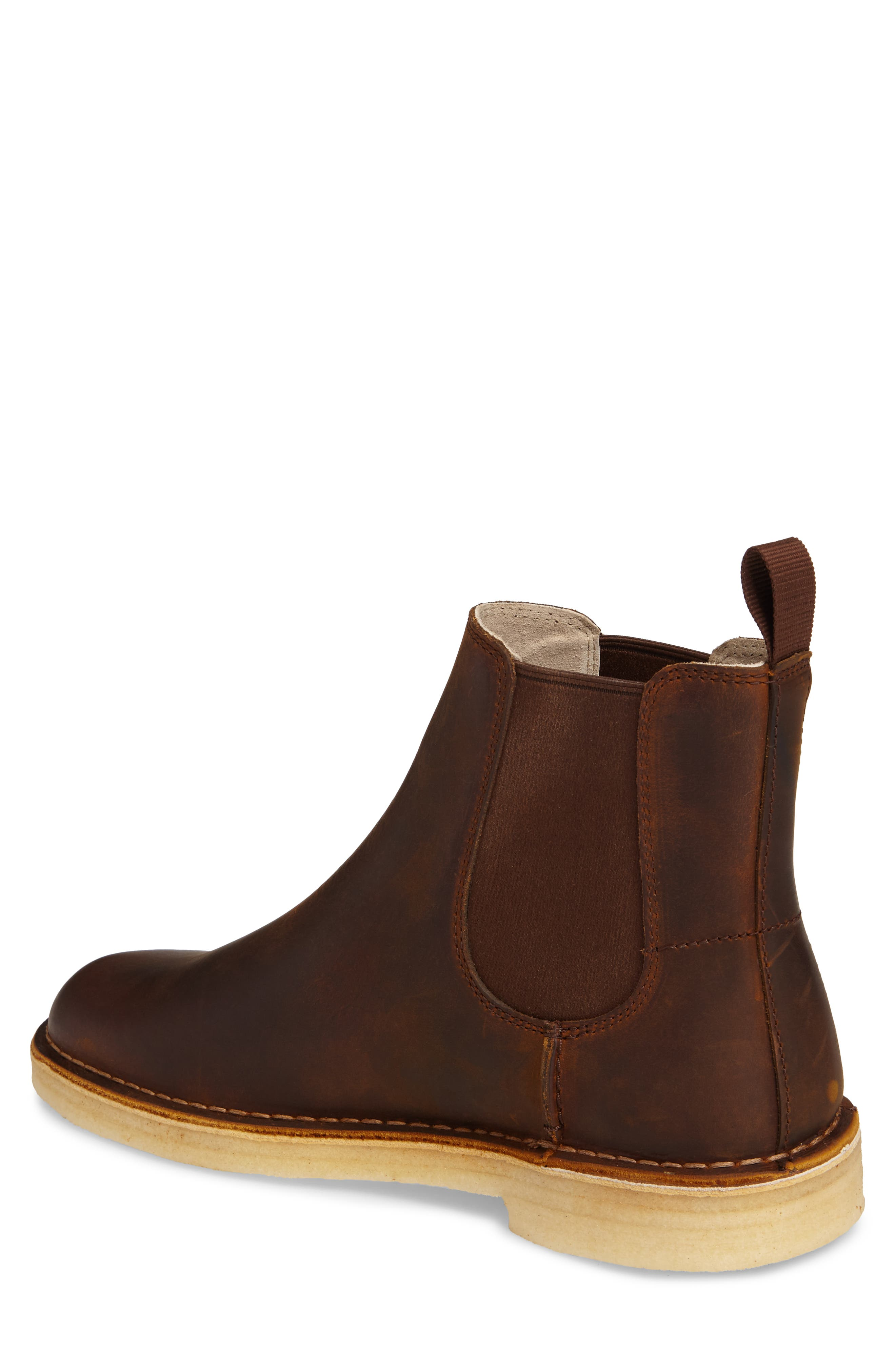 CLARKS<SUP>®</SUP>,                             Desert Peak Chelsea Boot,                             Alternate thumbnail 2, color,                             MEDIUM BROWN BEESWAX LEATHER