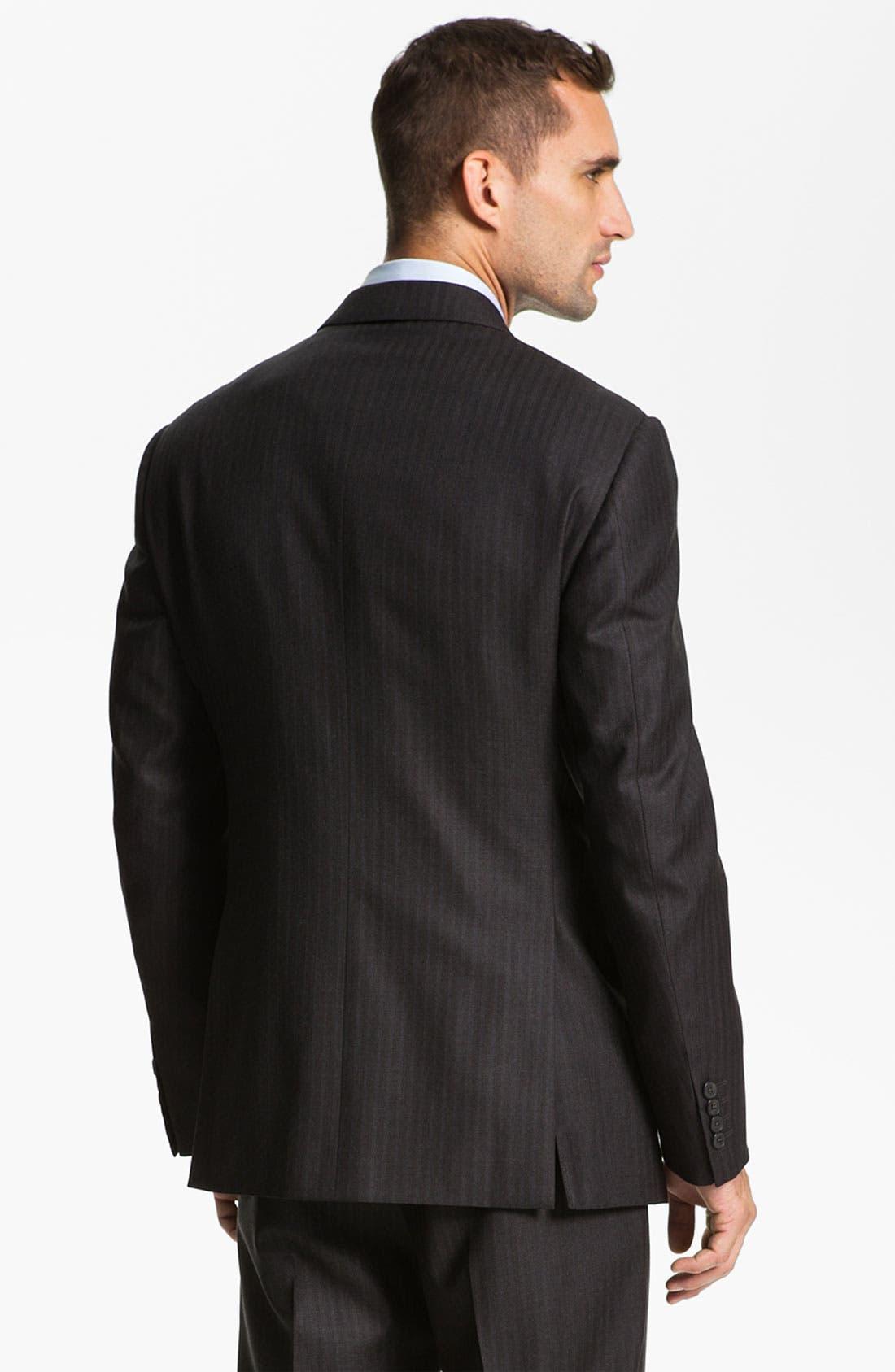 Armani Collezioni 'Giorgio' Trim Fit Stripe Suit,                             Alternate thumbnail 2, color,                             024