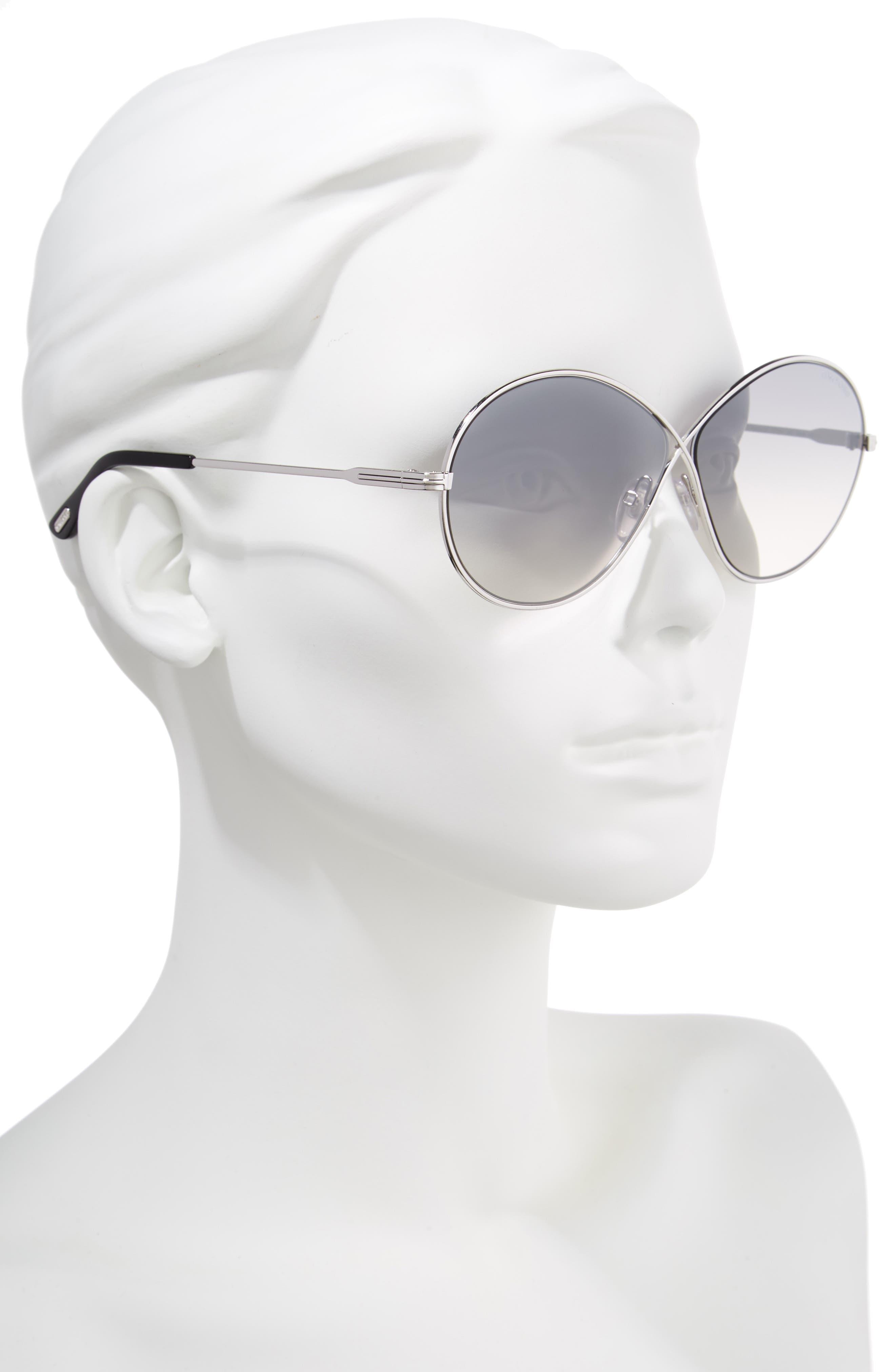 Rania 64mm Oversize Round Sunglasses,                             Alternate thumbnail 2, color,                             040
