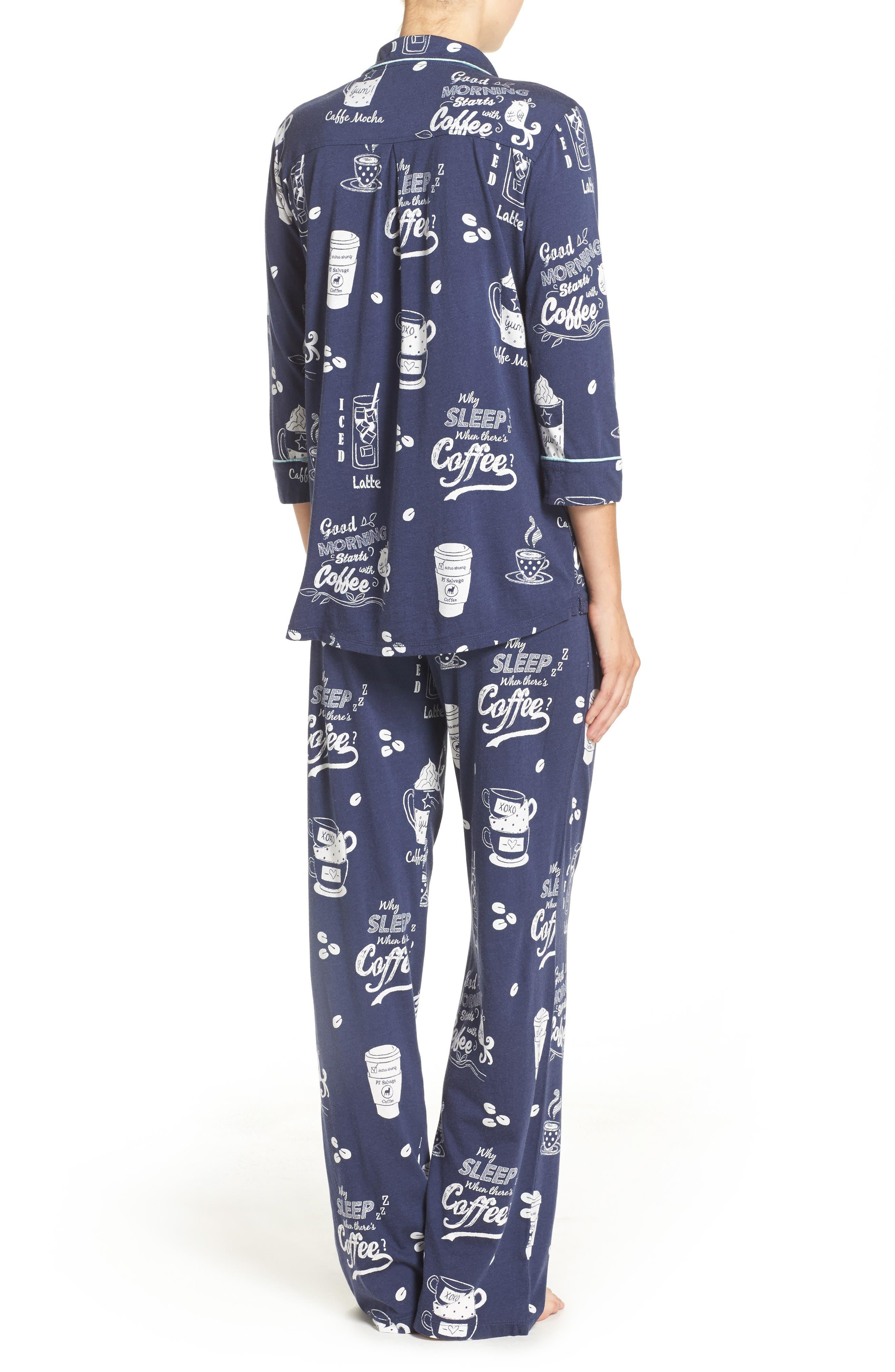Playful Print Pajamas & Eye Mask,                             Alternate thumbnail 8, color,
