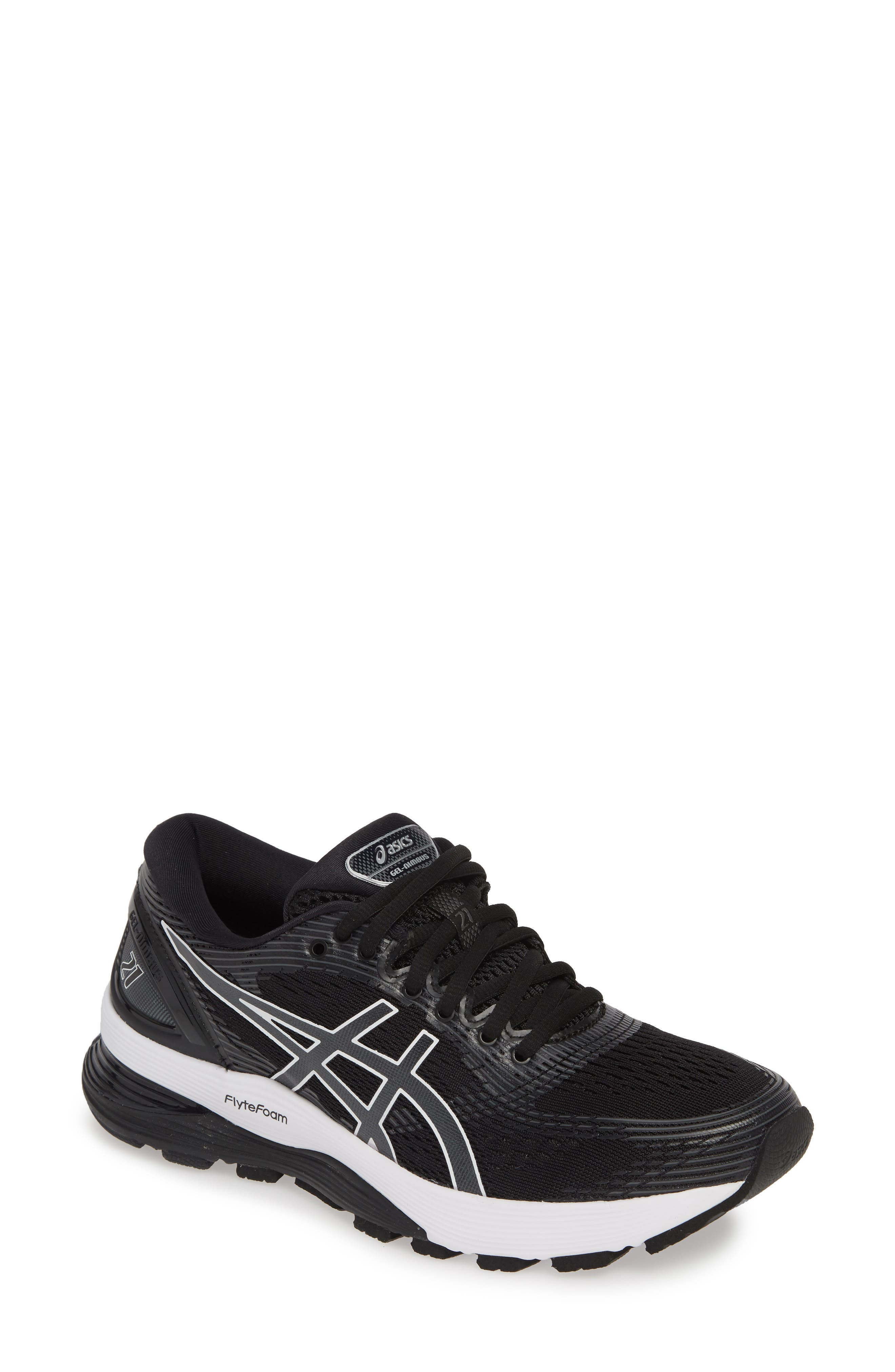 Asics Gel-Nimbus 21 Running Shoe, Black