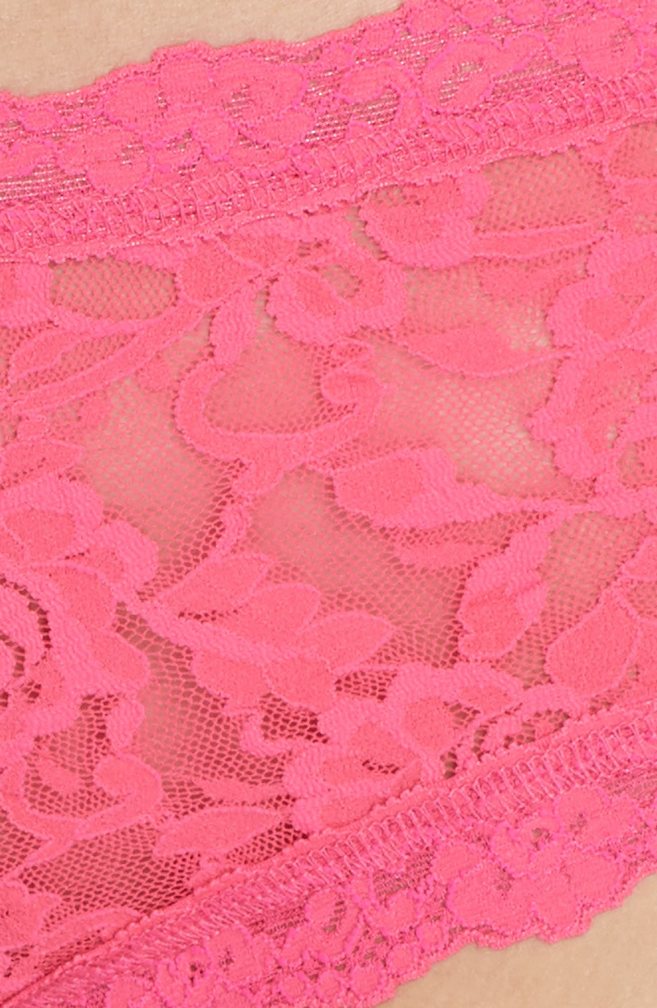 'Signature Lace' Boyshorts,                             Alternate thumbnail 5, color,                             FLMBYNT PK