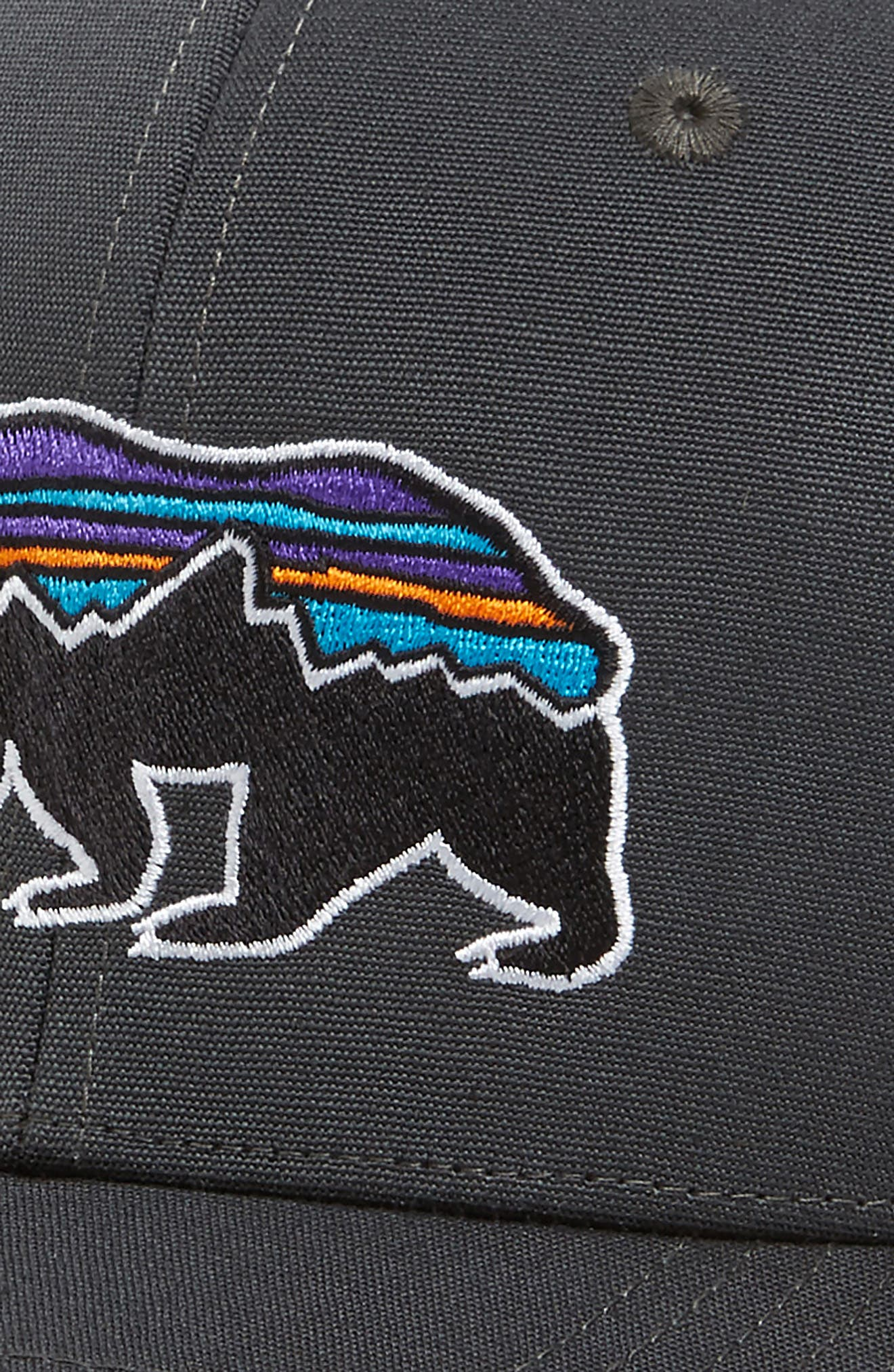 Fitz Roy Bear Trucker Cap,                             Alternate thumbnail 3, color,                             FORGE GREY