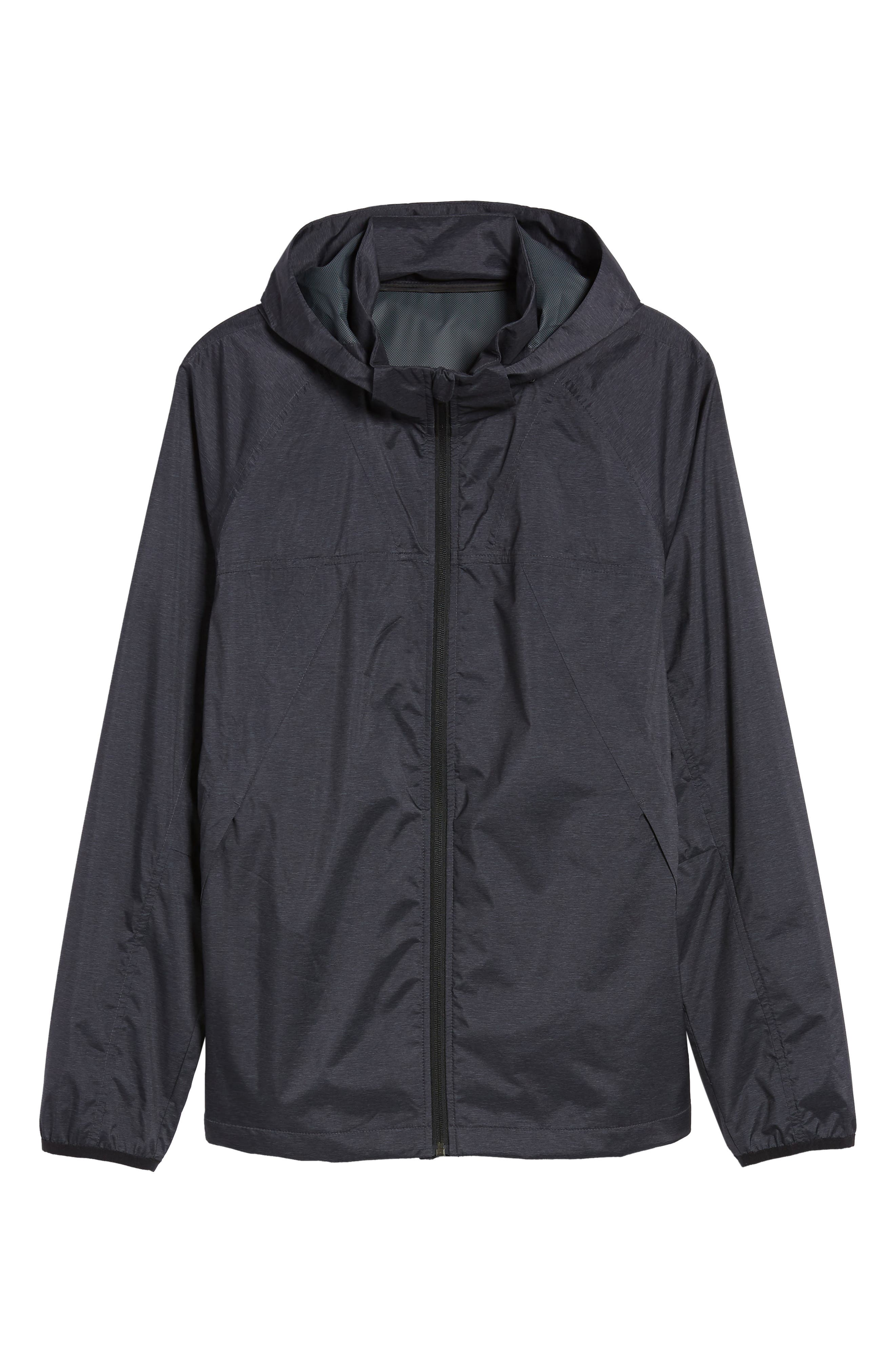 ZELLA,                             Xieite Hooded Jacket,                             Alternate thumbnail 6, color,                             001