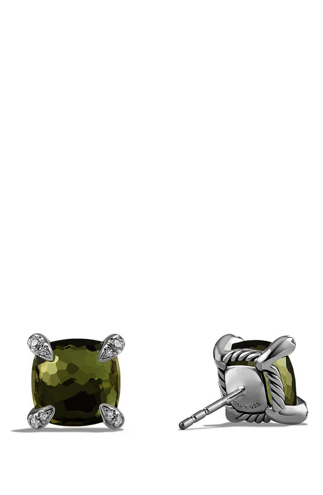 'Châtelaine' Earrings with Semiprecious Stones and Diamonds,                             Alternate thumbnail 3, color,                             SILVER/ CITRINE/ HEMATINE