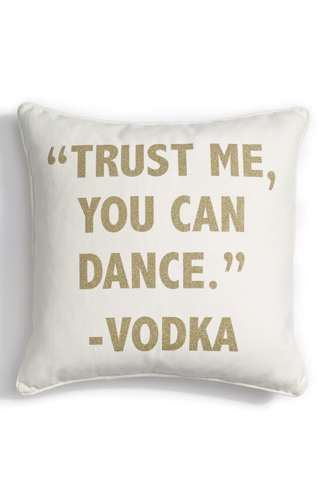 LEVTEX 'Trust Me' Accent Pillow, Main, color, 900