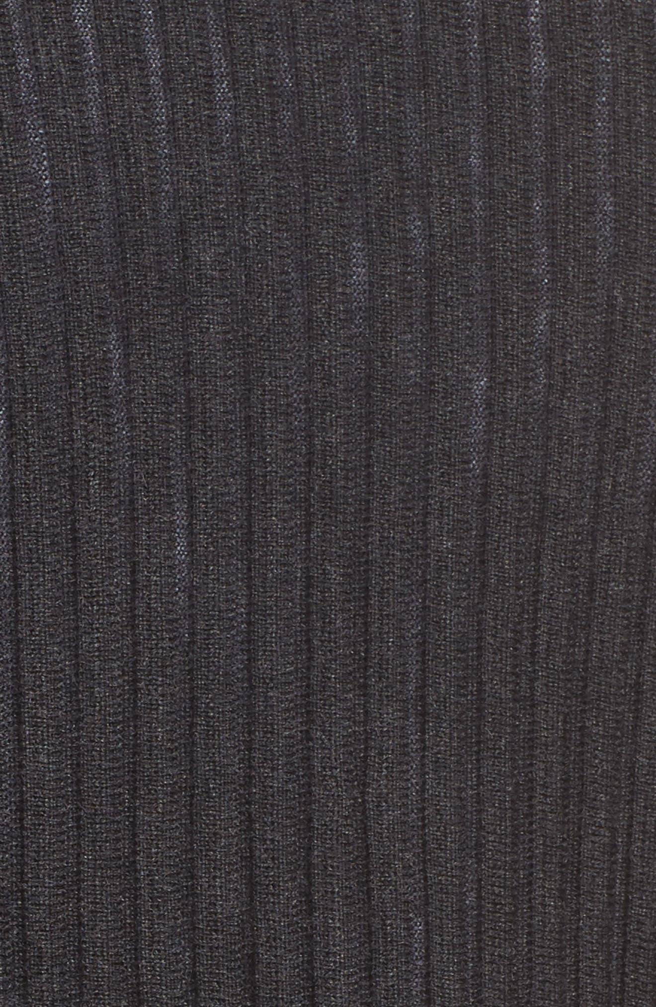 Ribbed Merino Wool Long Cardigan,                             Alternate thumbnail 18, color,